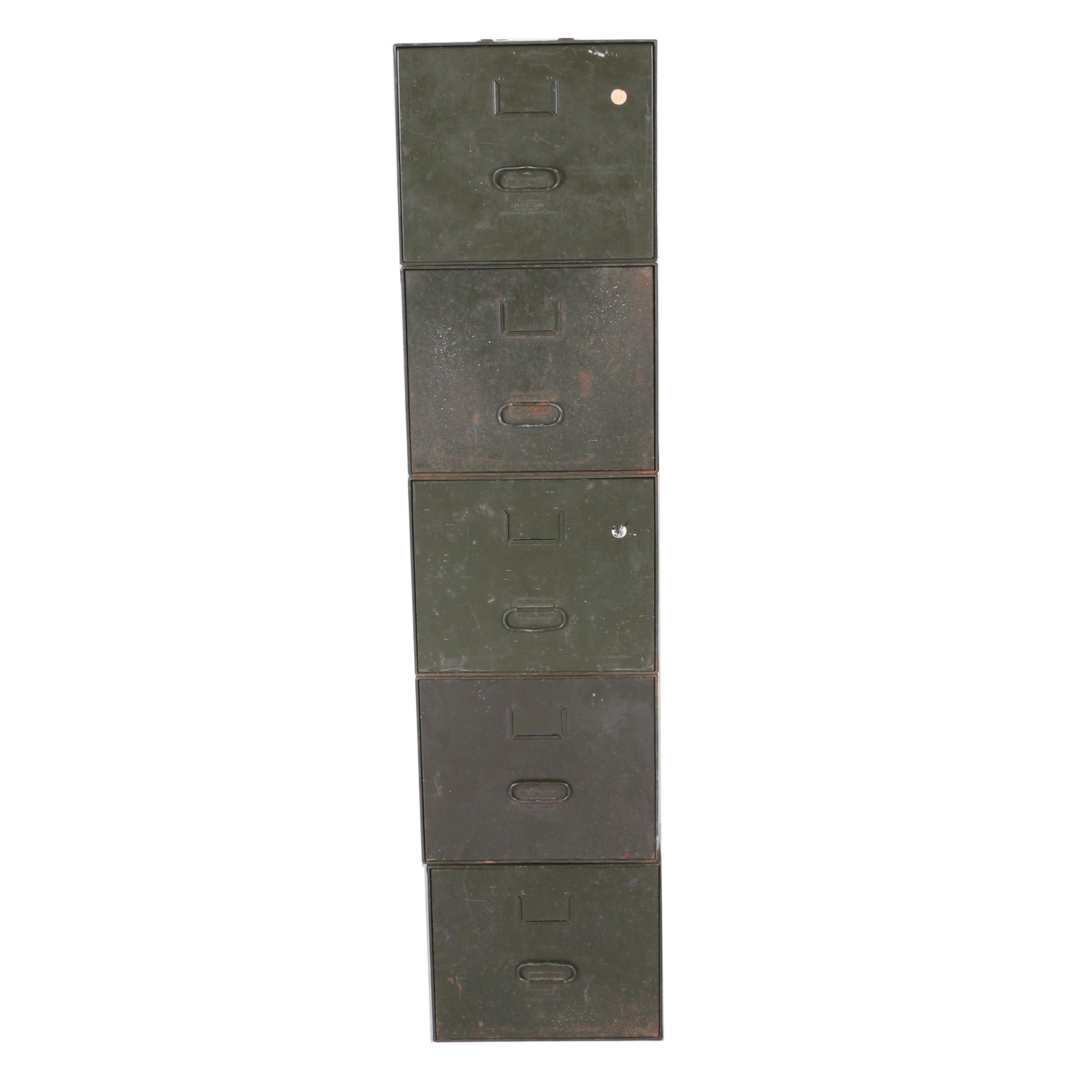 Vintage Diebold Inc.  Safe-T-Stak  Metal Filing Cabinet ...  sc 1 st  EBTH.com & Vintage Diebold Inc.