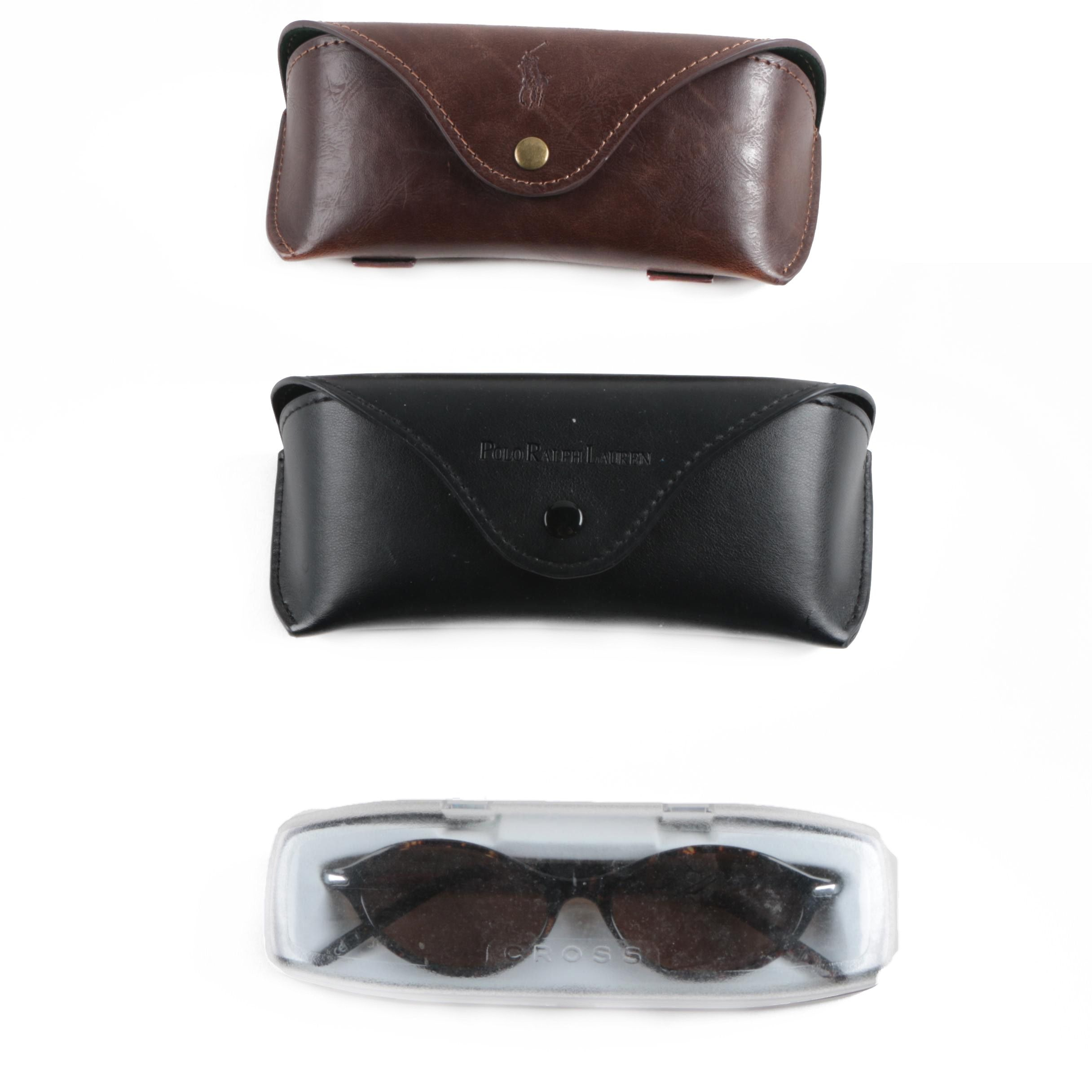 Cross Tortoise Shell Style Reading Sunglasses and Cases