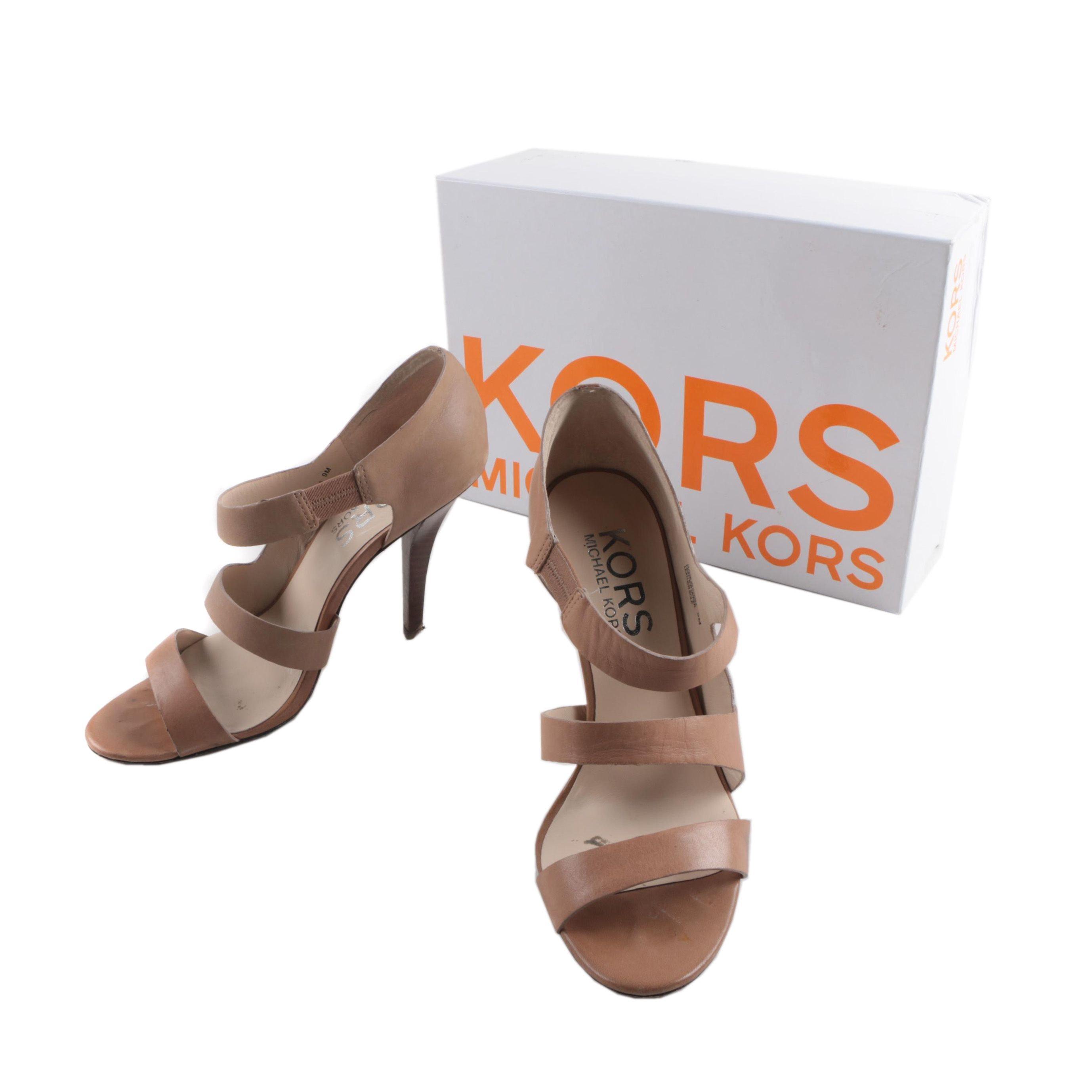 Kors by Michael Kors Tan Leather Heels