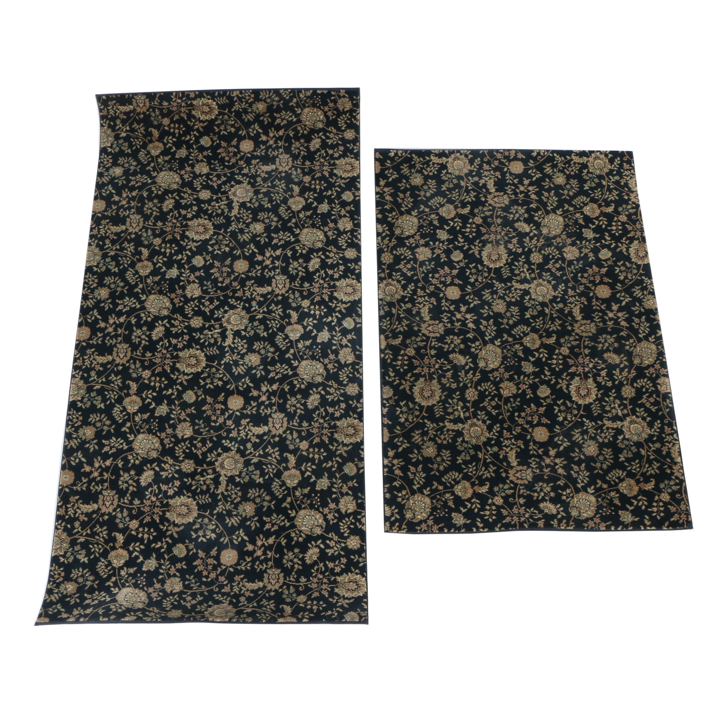 Power-Loomed Floral Wool Accent Rugs
