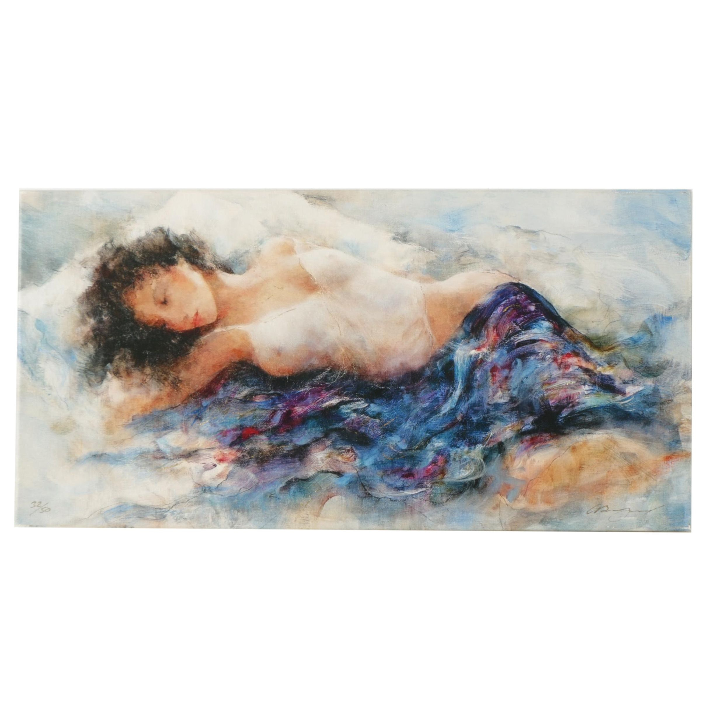 """Limited Edition Giclee Print After Gary Benfield'd """"White Chemise"""""""