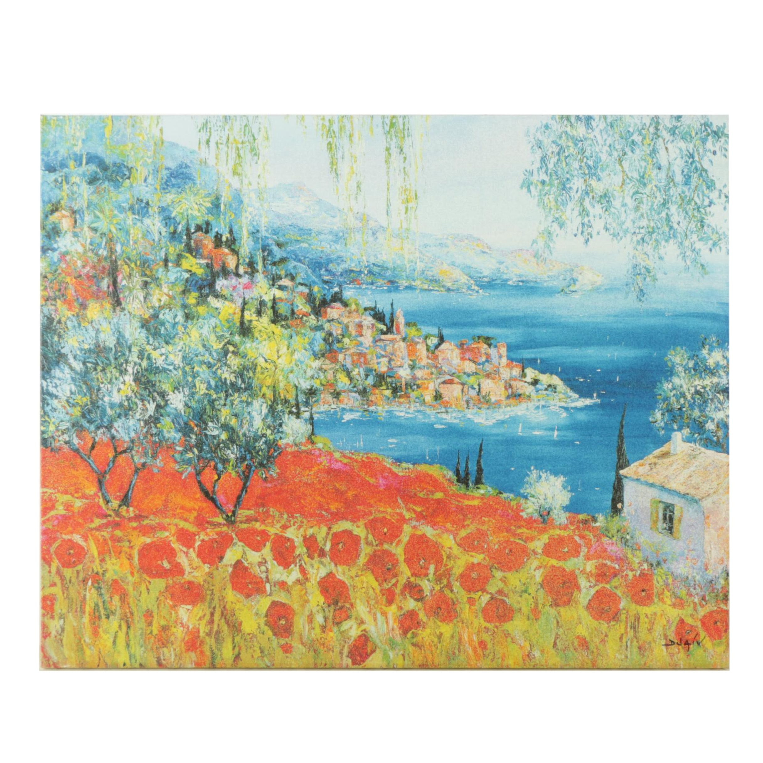 """Duaiv Limited Edition Giclee Print on Canvas """"Poppies Dream"""""""