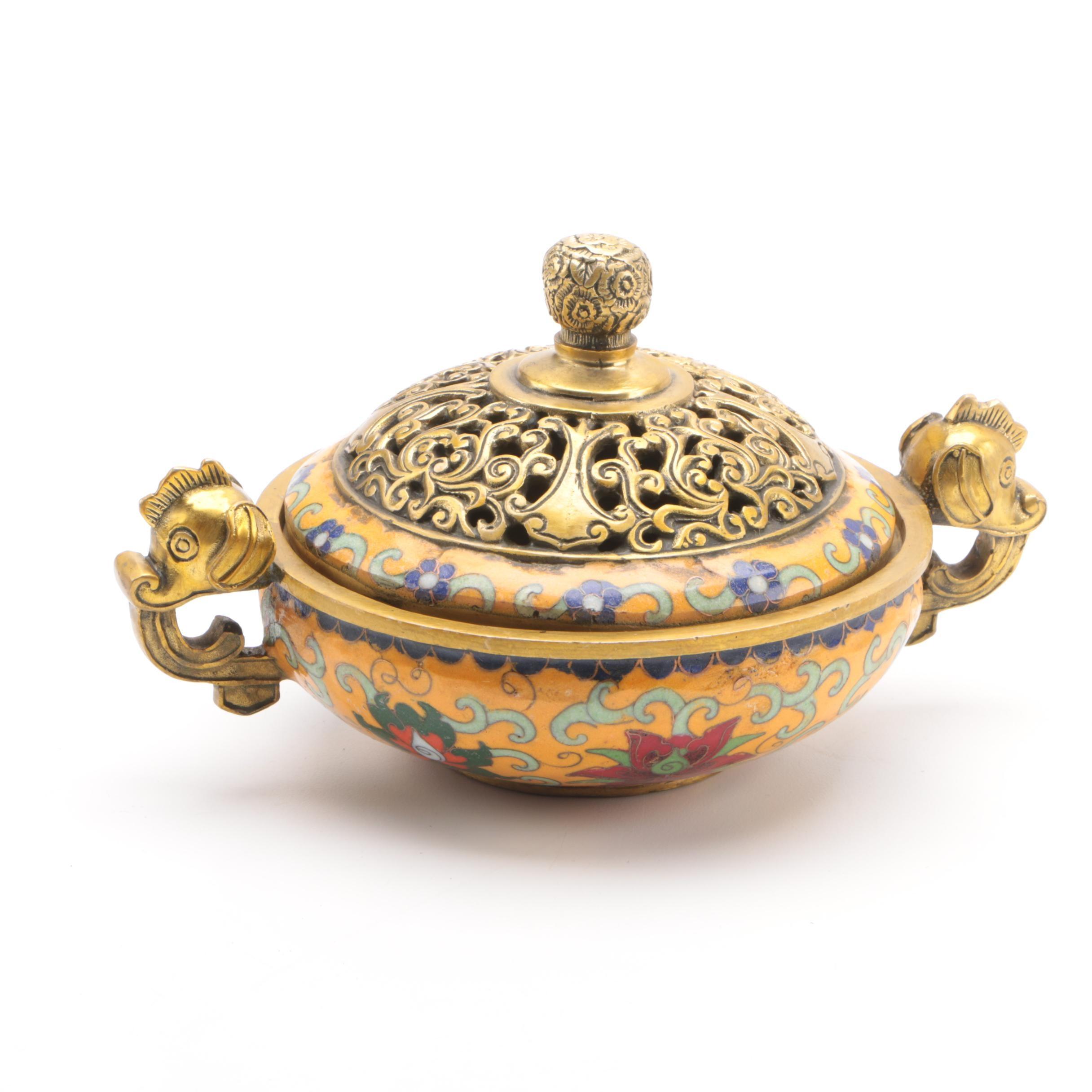 Republic Period Chinese Cloisonné Censer