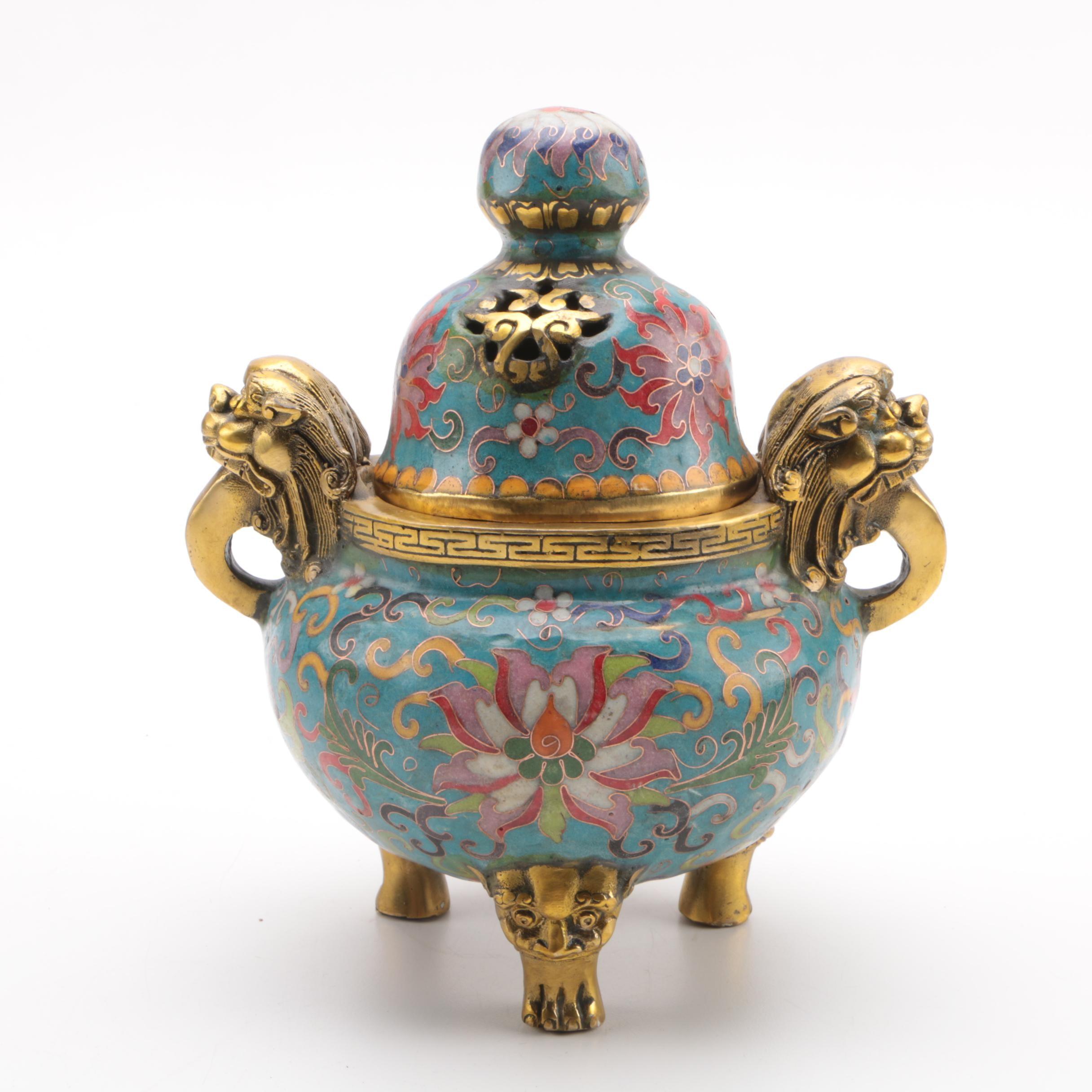 Chinese Cloisonné Censer