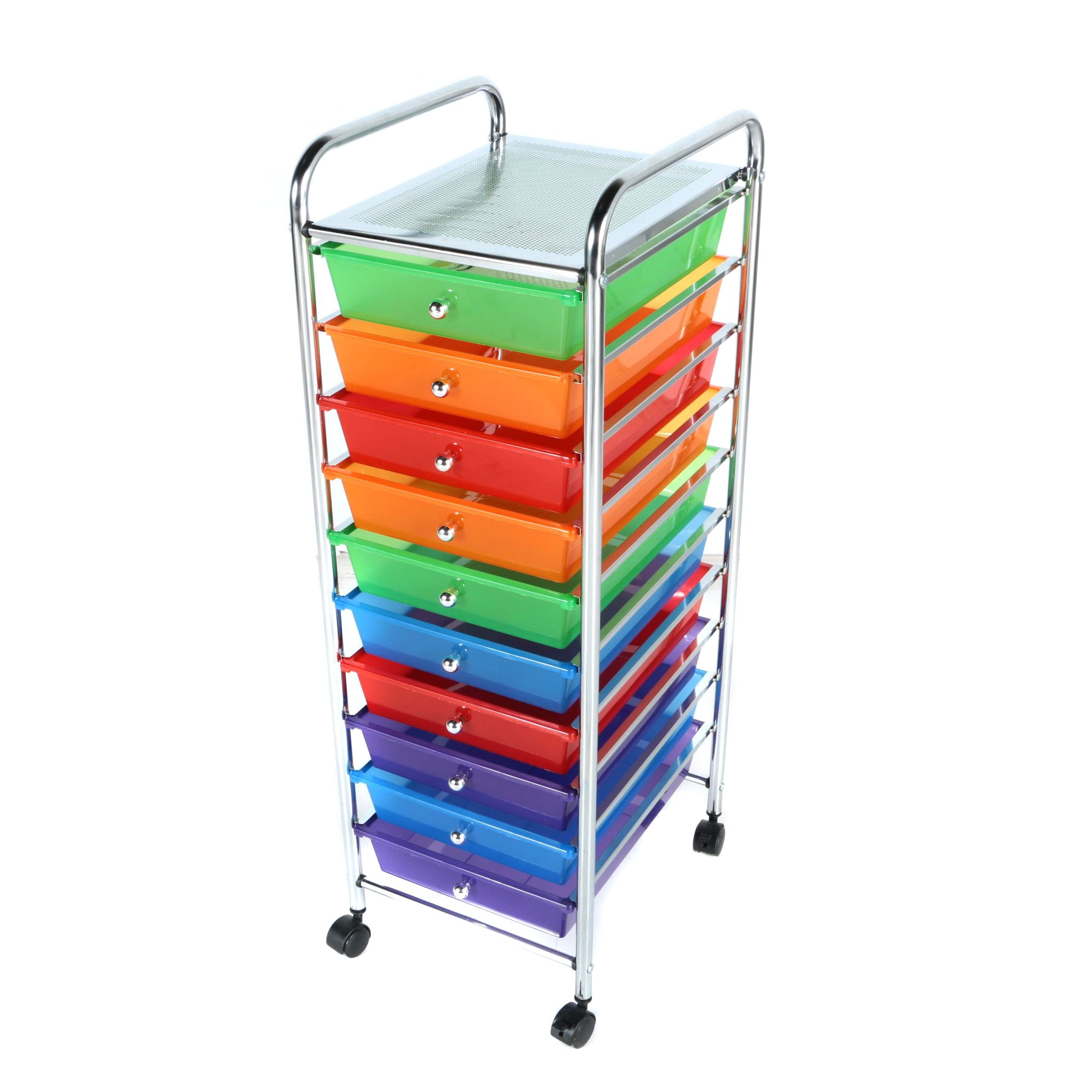 Colorful Storage Drawers on Wheels