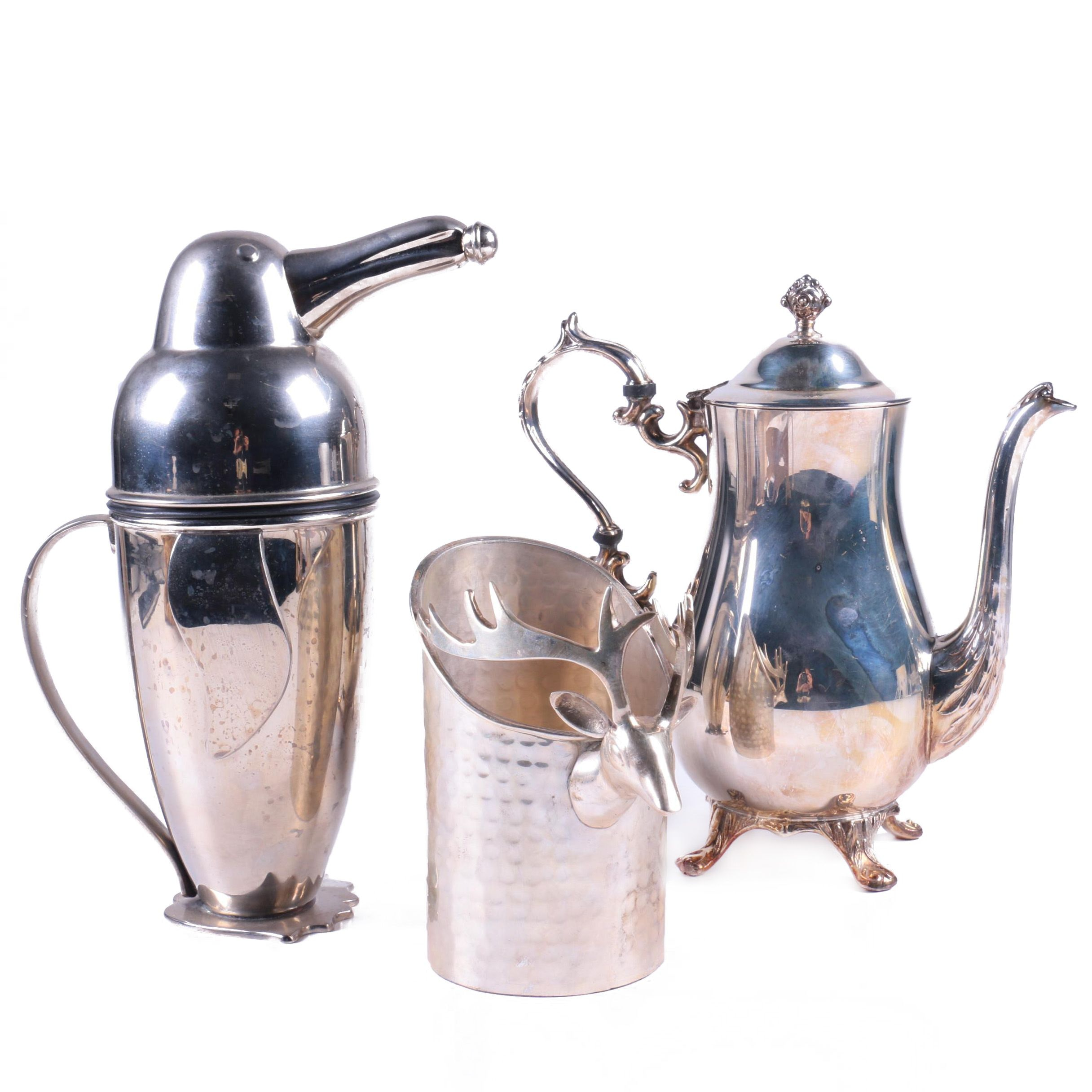 Silver Plate Vessels Featuring English Silver Mfg. Corp.
