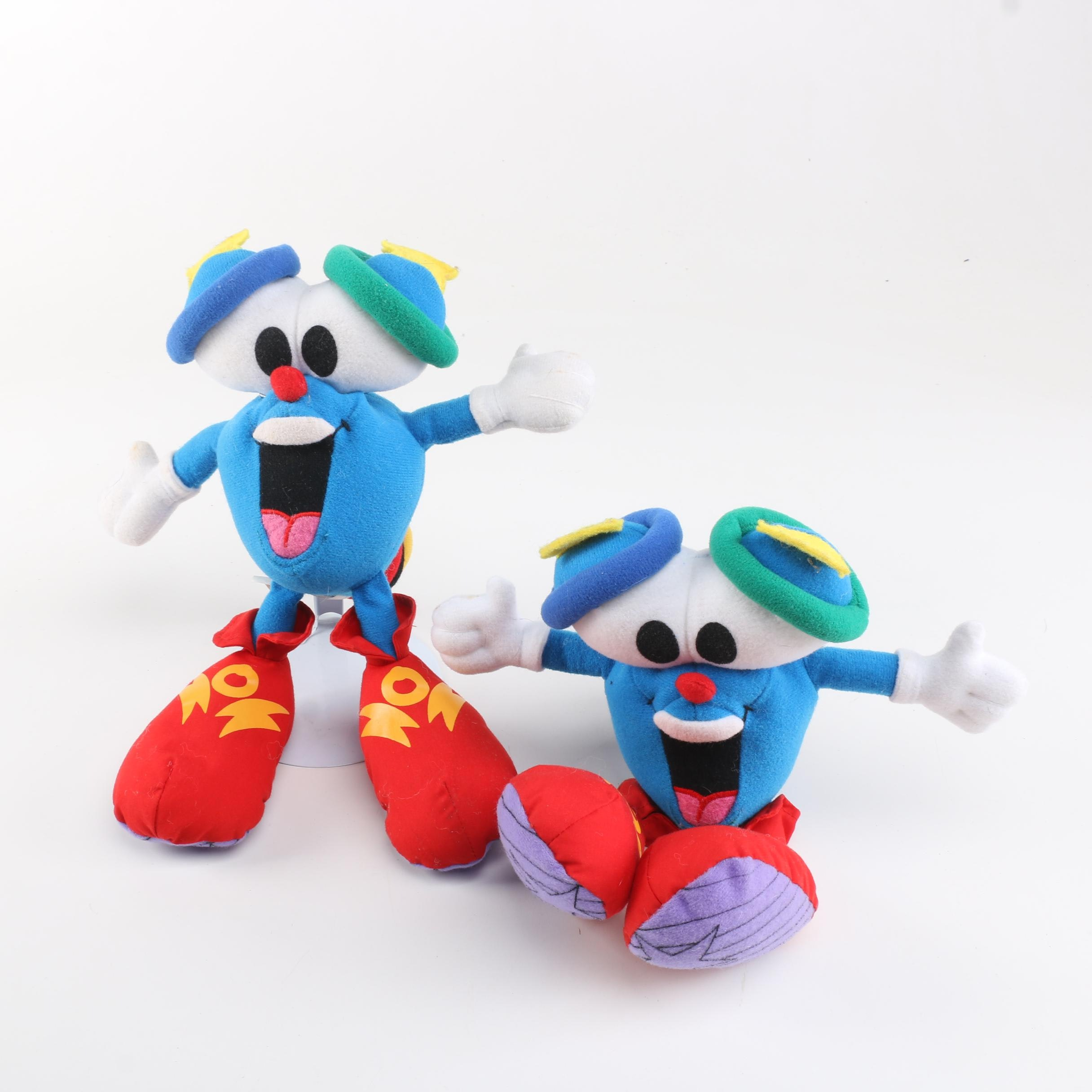Collection of 1996 Atlanta Olympics Izzy Mascot Plush Toys
