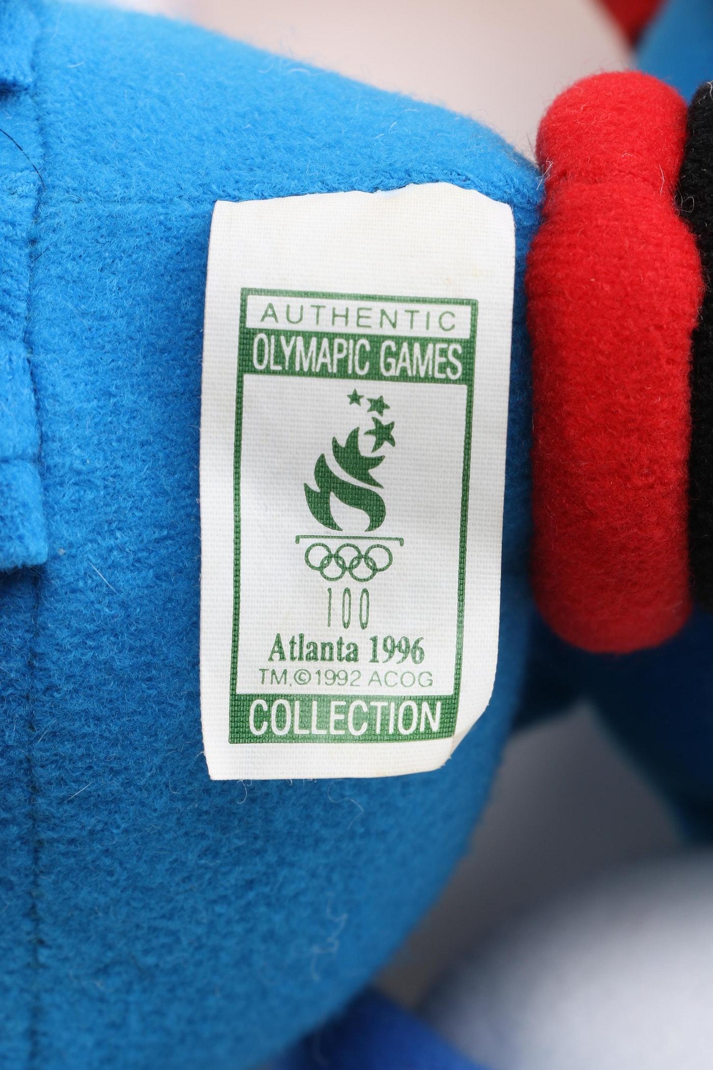 Collection Of 1996 Atlanta Olympics Izzy Mascot Plush Toys