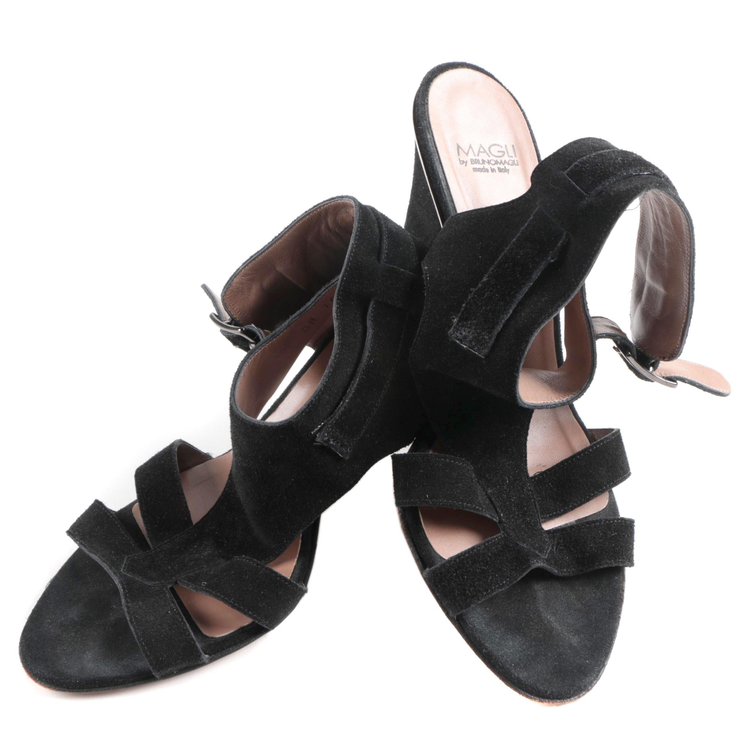 Magli by Bruno Magli Black Suede Heels
