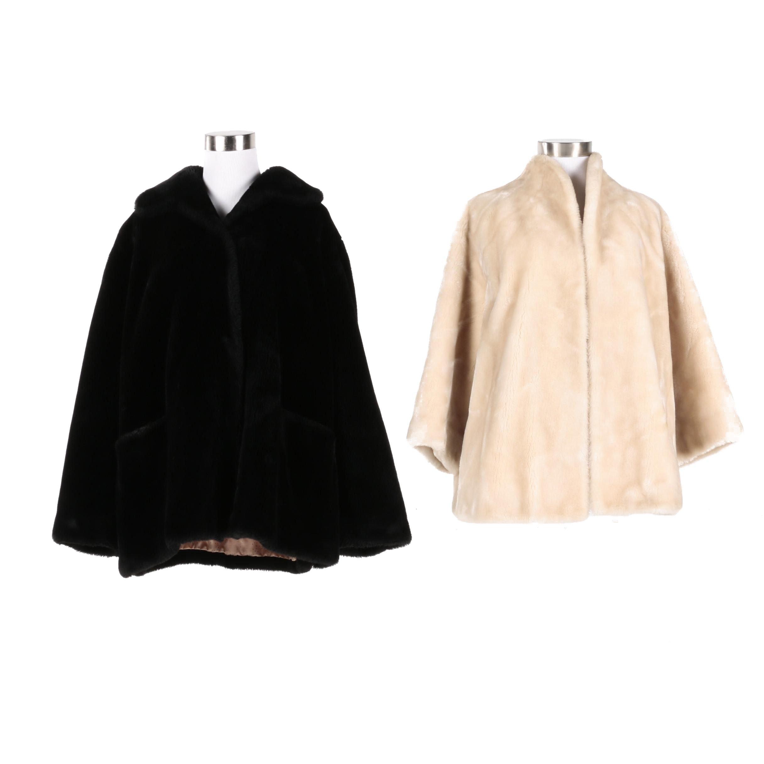 Vintage Borgana Faux Fur Coats