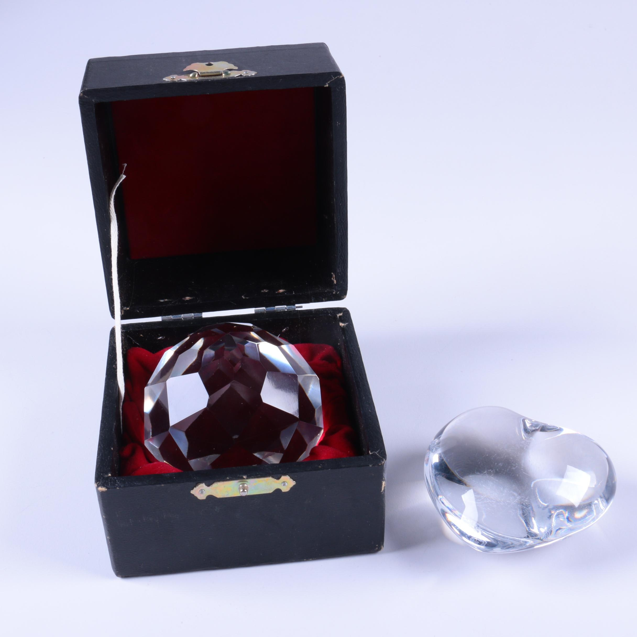 Crystal Paperweights Featuring Baccarat