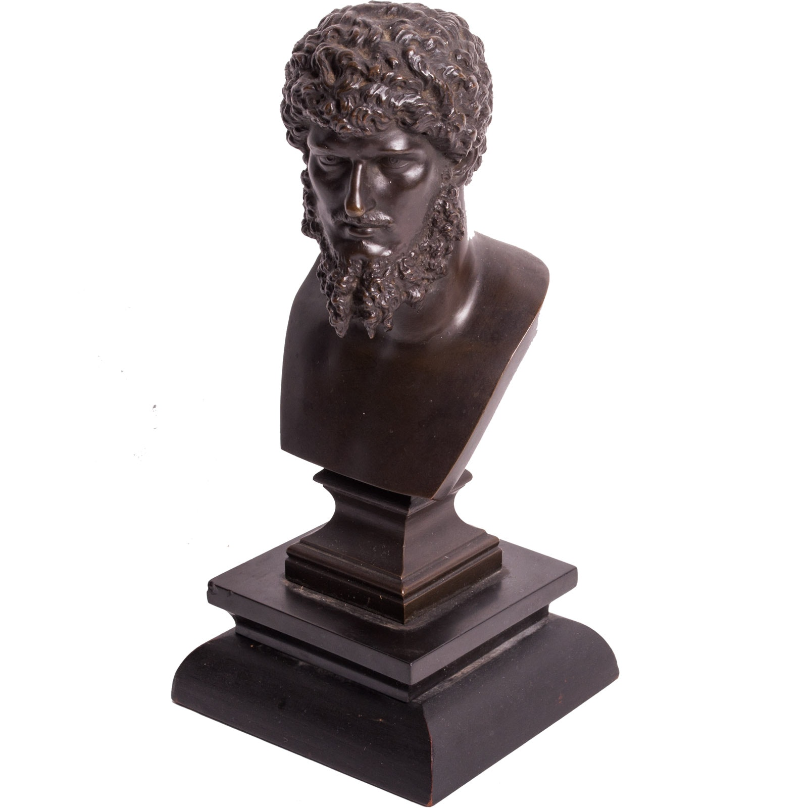 Reproduction Bronze Bust of Lucius Verus After Charles-Gabriel Sauvage