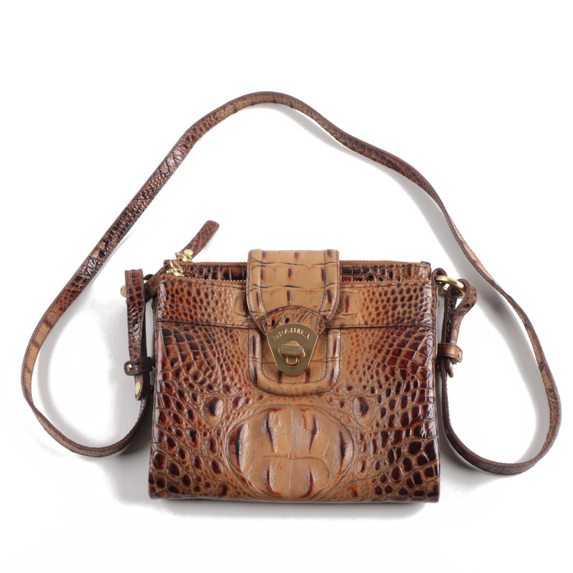 Brahmin Alligator Embossed Leather Handbag