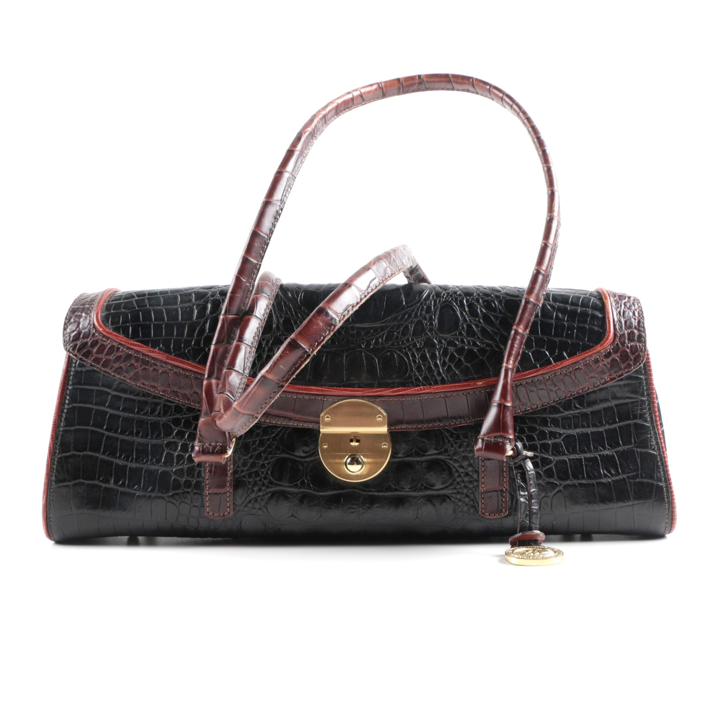 Brahmin Leather Baguette Handbag