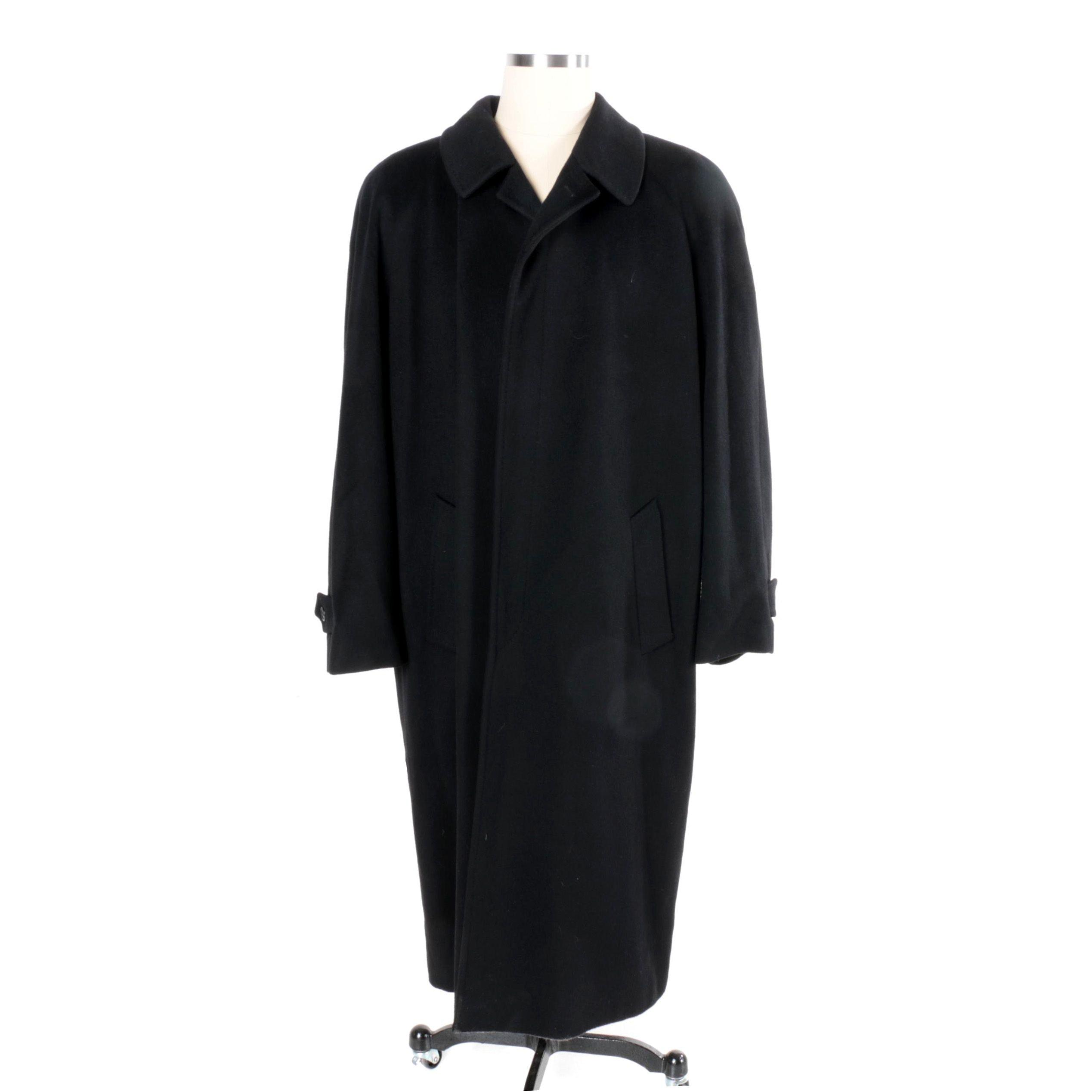 Men's Mario Valente Black Pure Cashmere Coat