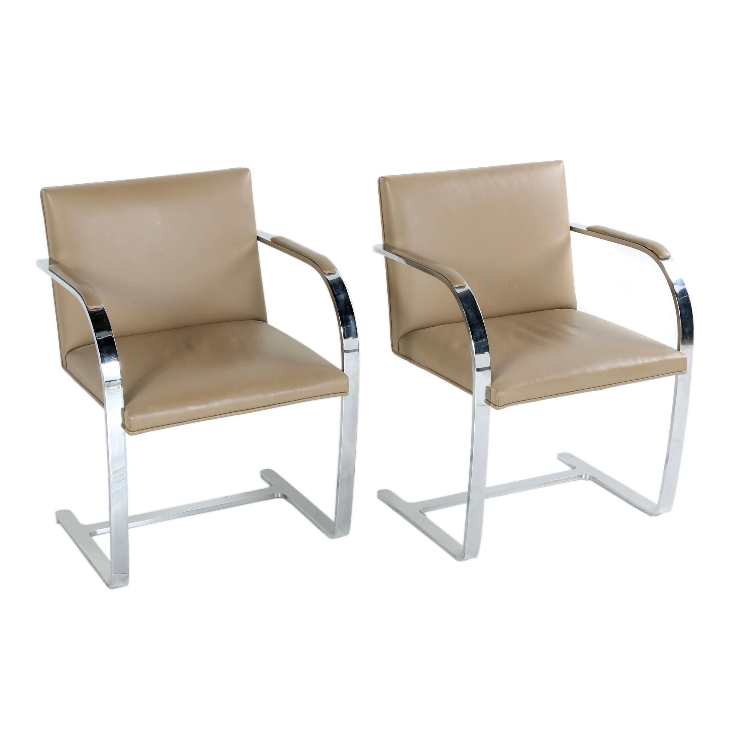 "Mid Century Modern ""Brno"" Style Chair Pair"