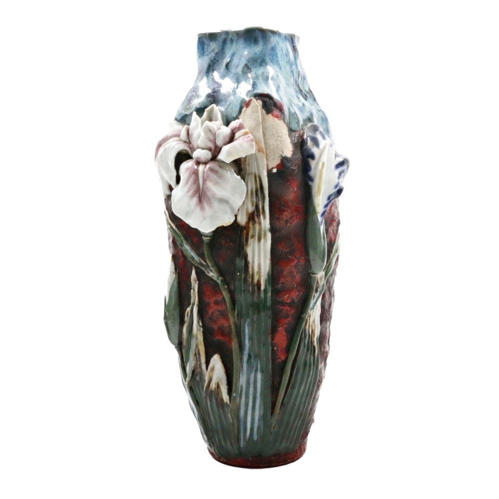 Japanese Sumida Pottery Style Vase