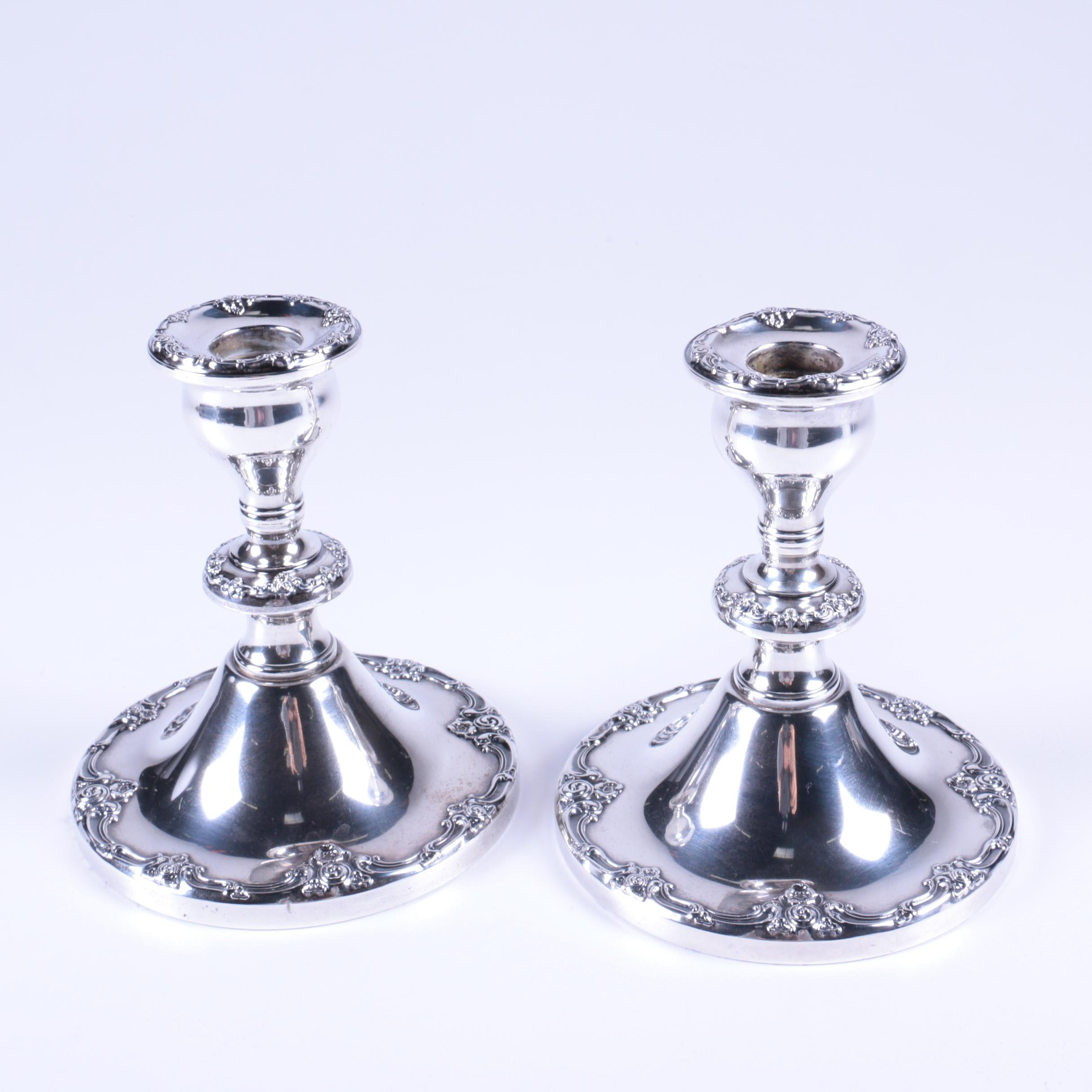 Gorham Weighted Sterling Silver Candlestick Holders