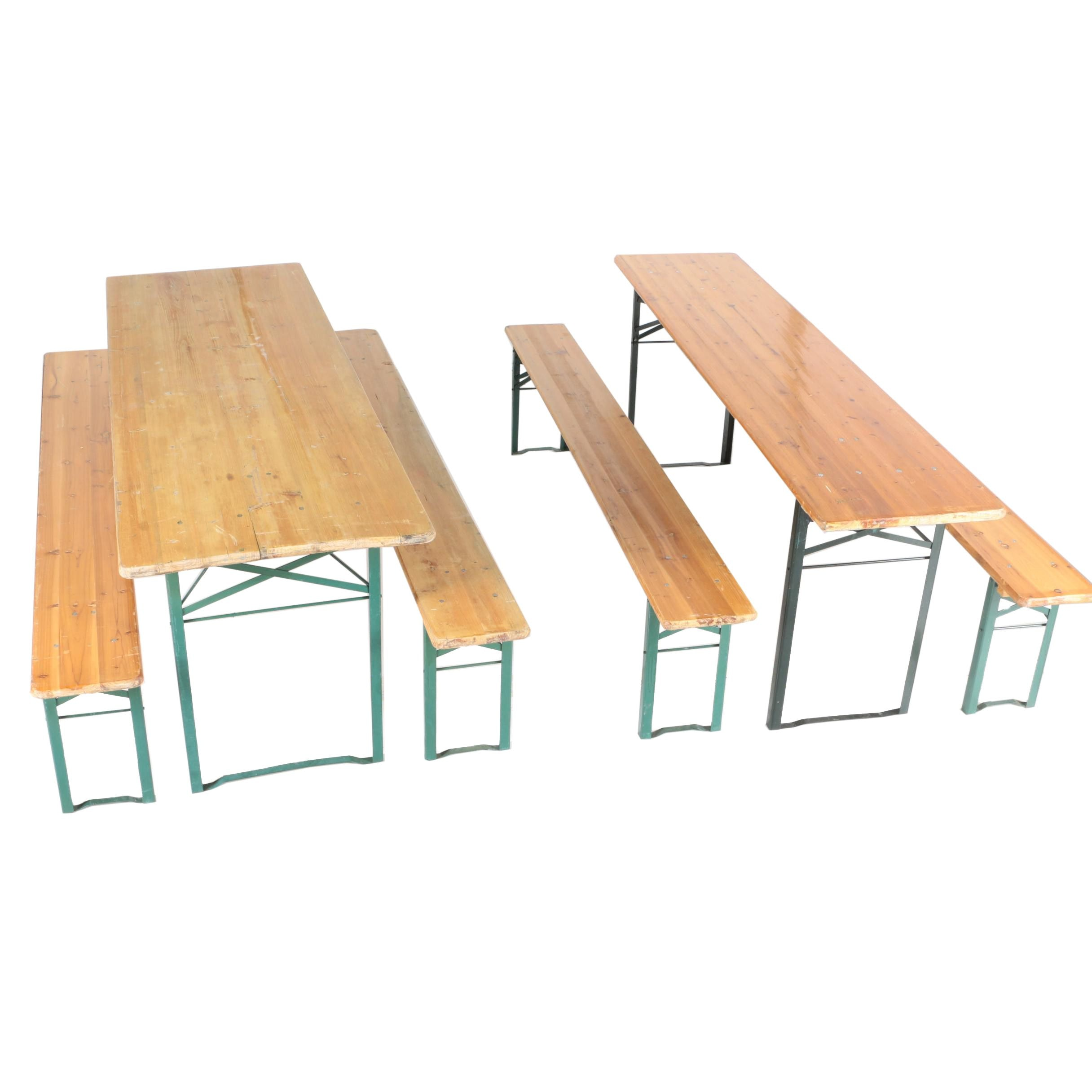 German Oktoberfest / Beer Fest Folding Tables and Benches