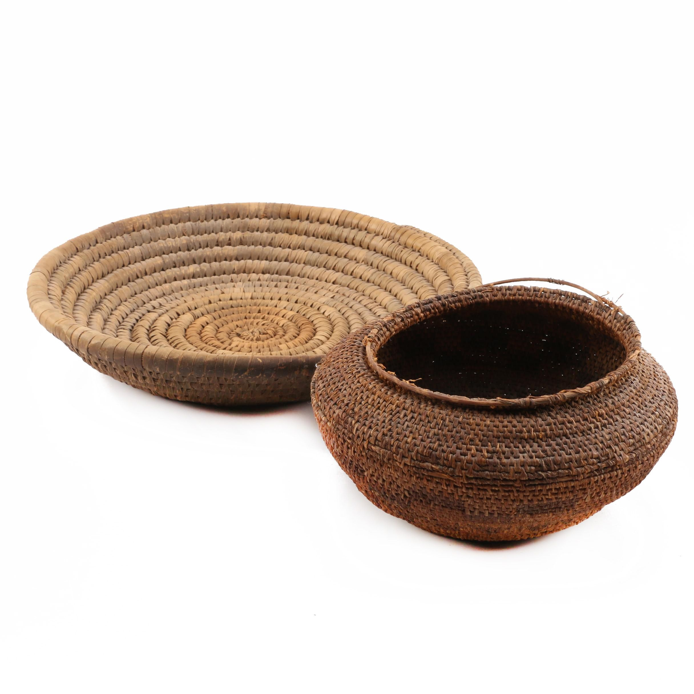 Native American Style Coiled Baskets