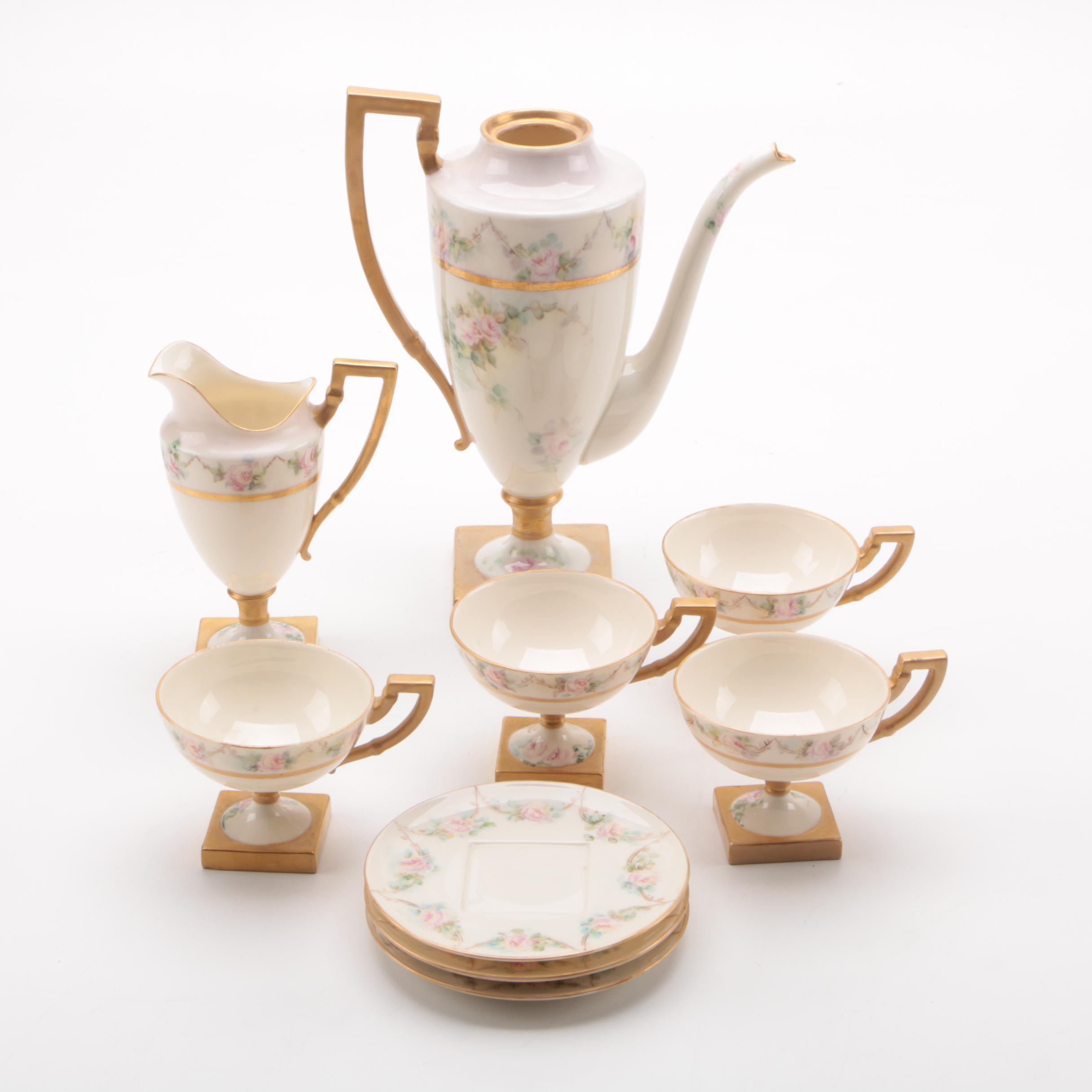 Antique American Belleek Coffee Service 1889-94