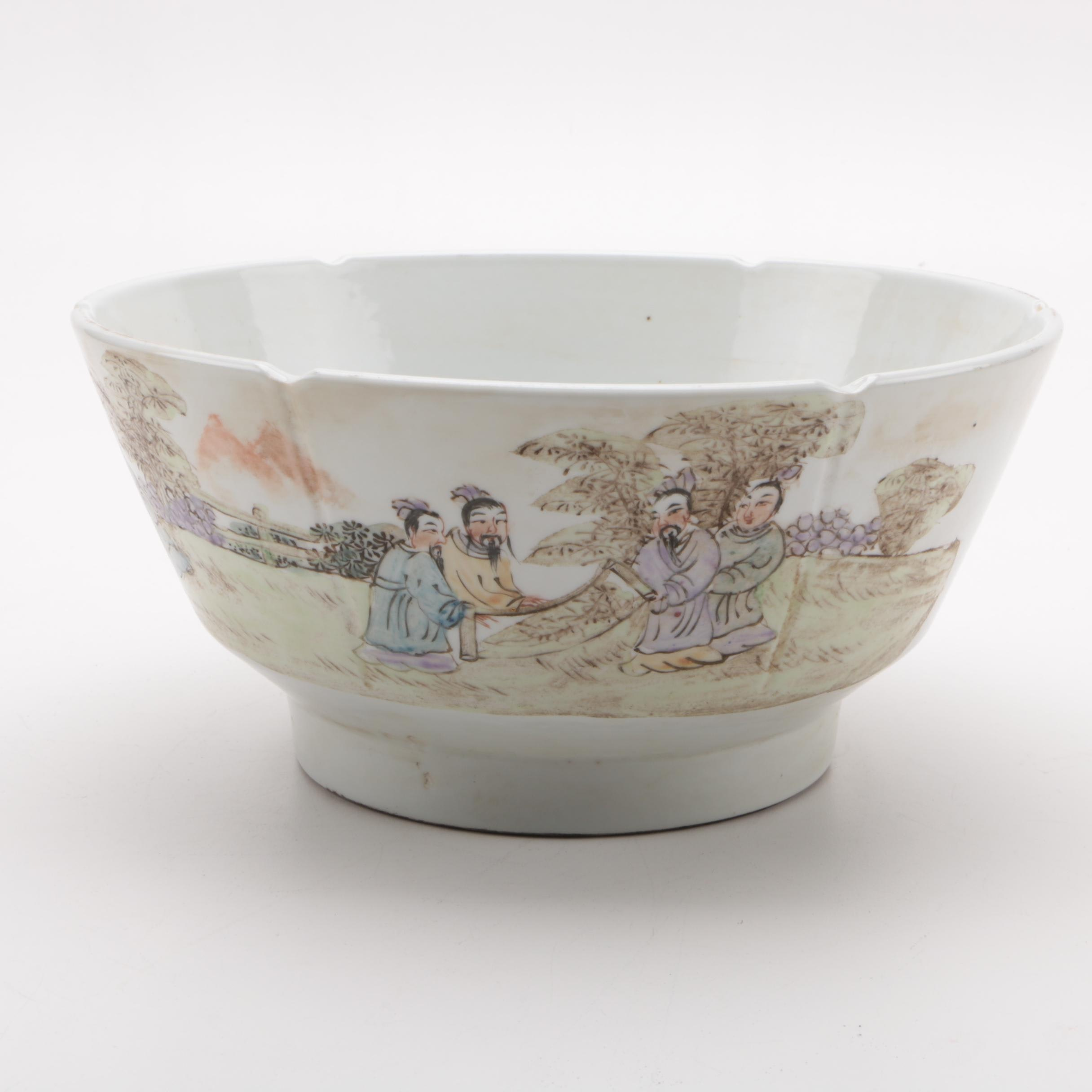 Vintage Hand-painted Chinese Porcelain Bowl