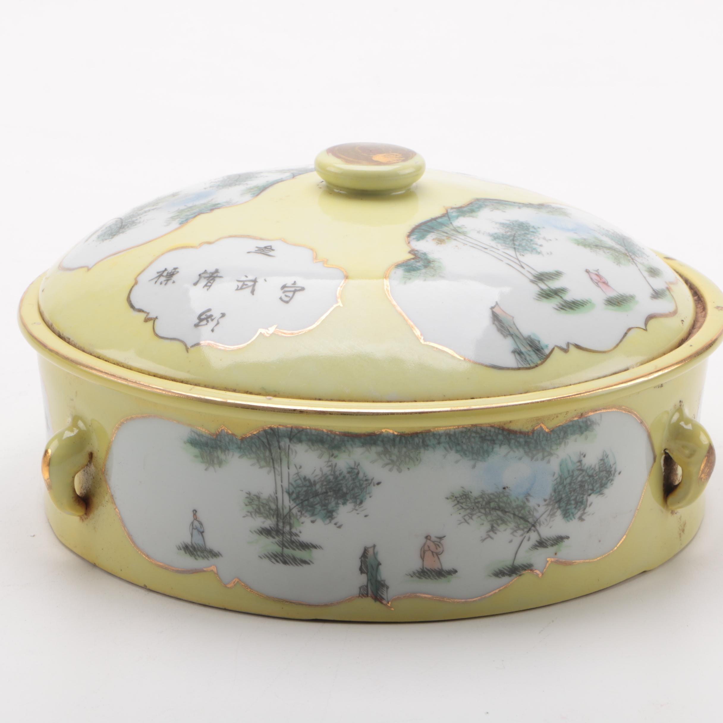 Chinese Ceramic Lidded Dish