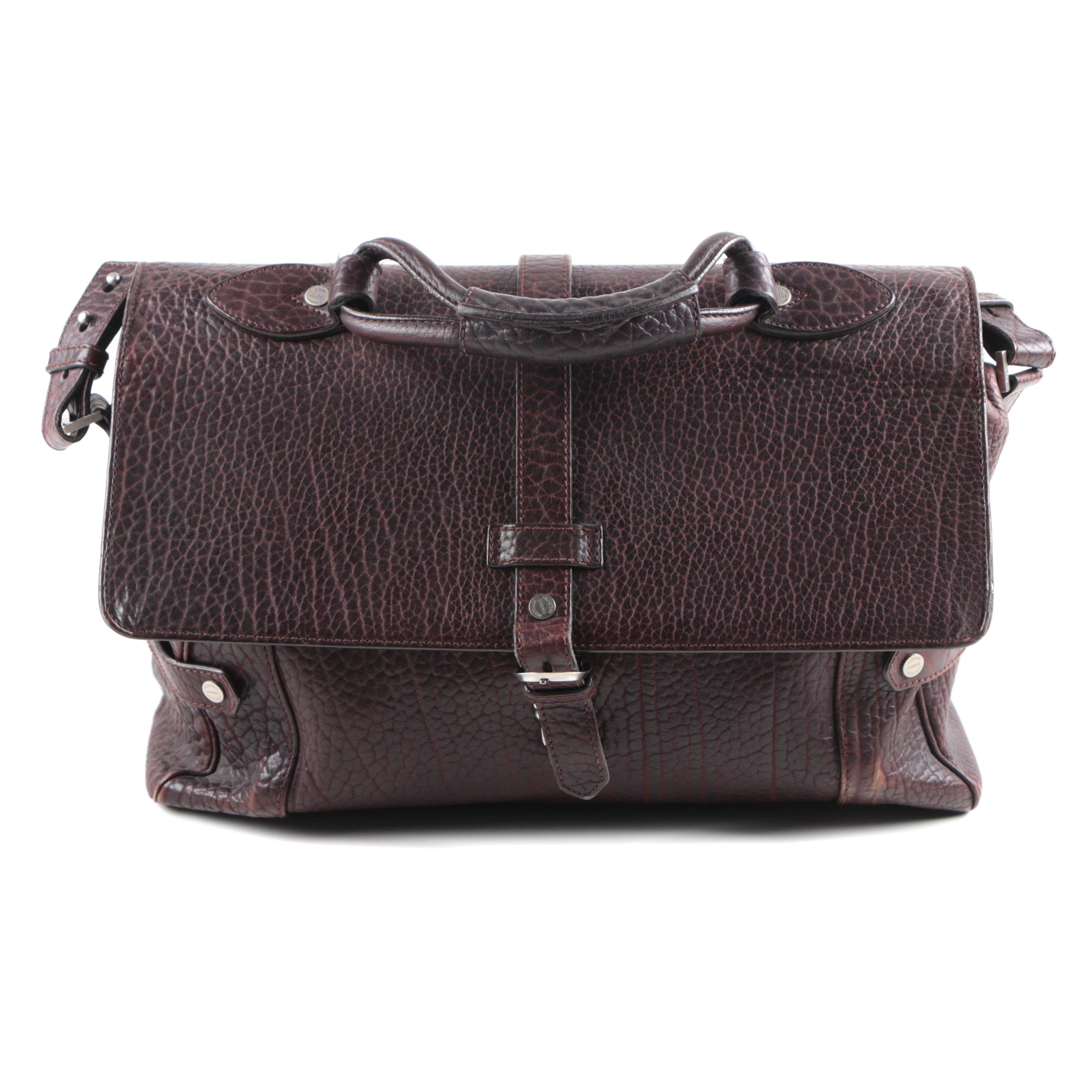 Salvatore Ferragamo Brown Leather Satchel