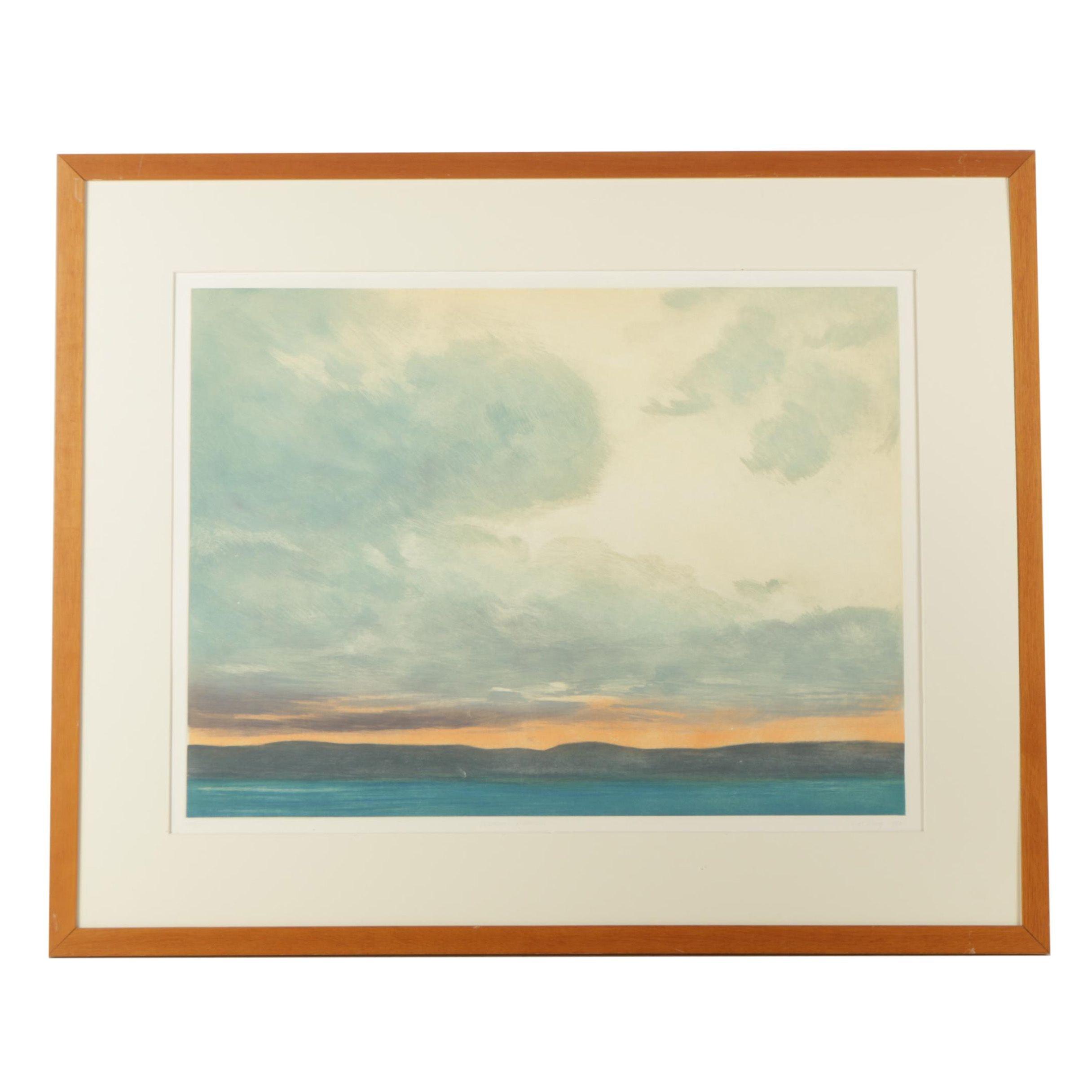 "Joe Essig Artist's Proof Etching on Paper ""Vermont Weather"""