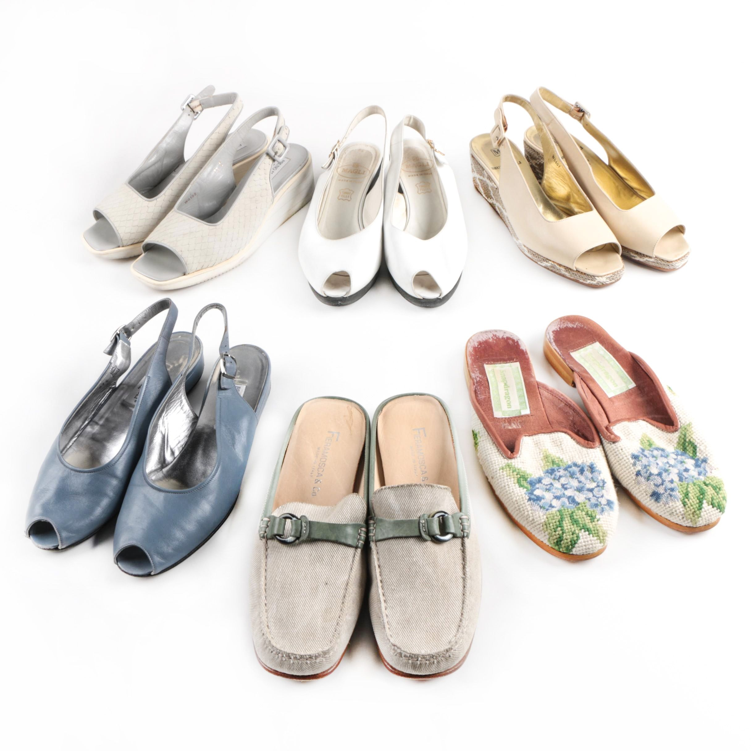 Bruno Magli, Fieramosca & Co. and Snapdragon Slingbacks and Mules