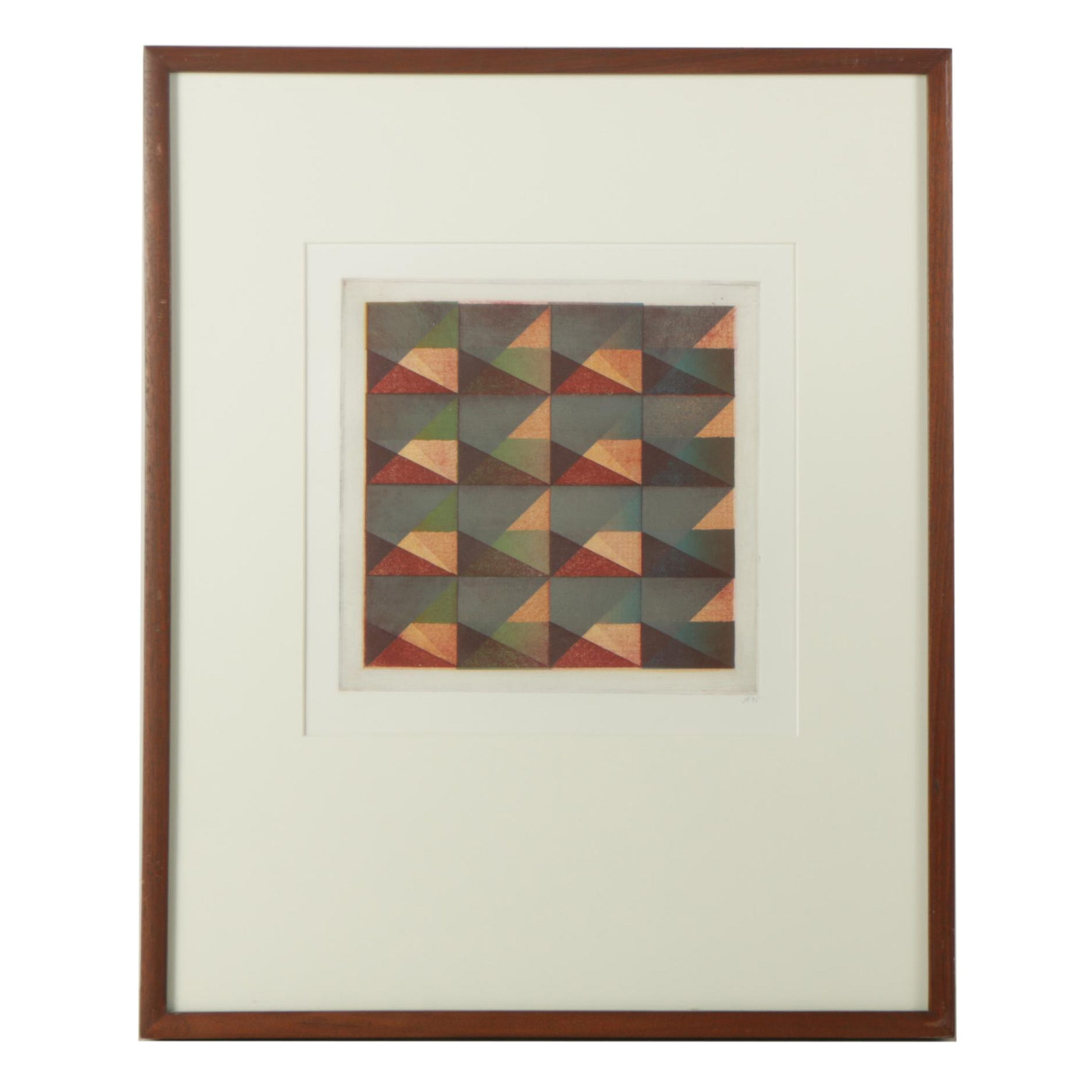 Signed Abstract Etching