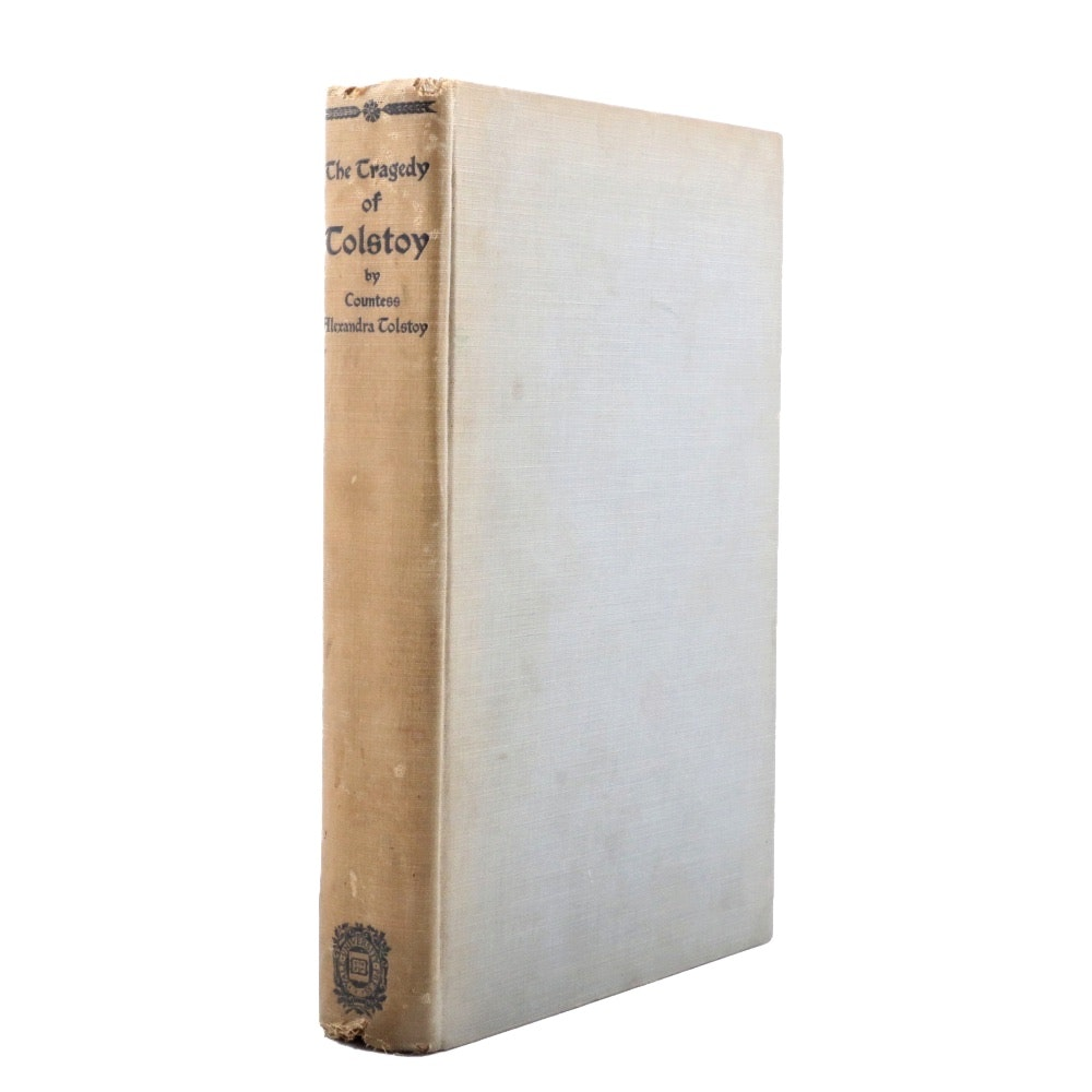 "Limited Edition ""The Tragedy of Tolstoy"" Signed by Alexandra Tolstoy"