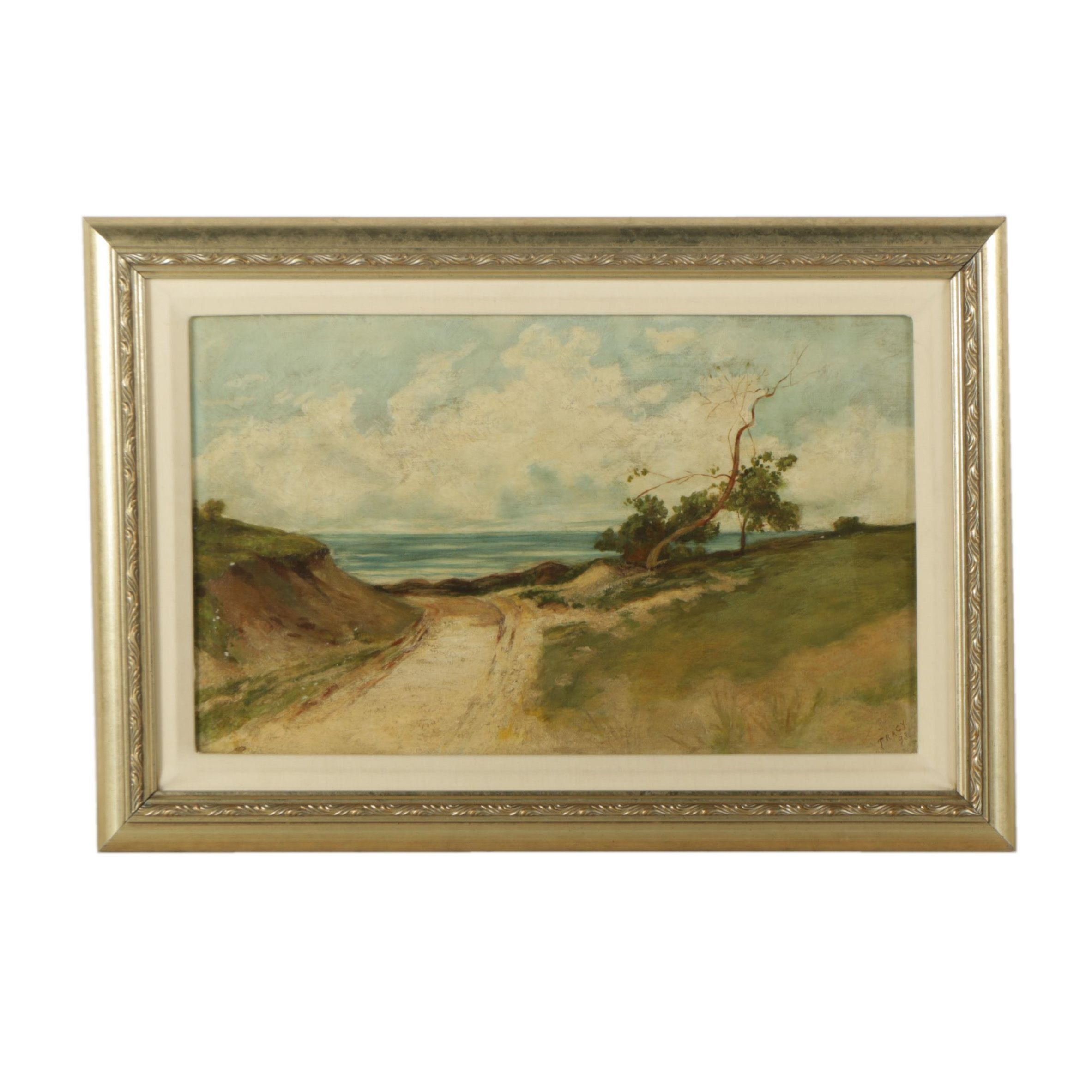 Tracy Oil Painting on Canvas of a Seaside Landscape