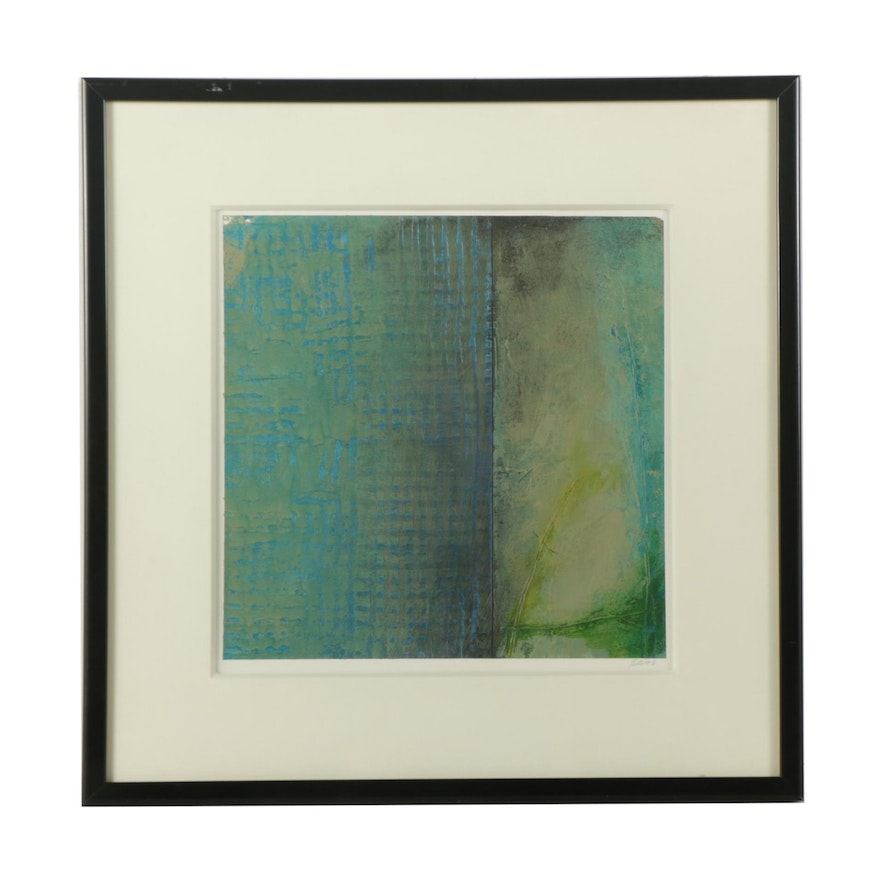 Robert rector acrylic abstract painting on paper ebth for Acrylic painting on paper tips
