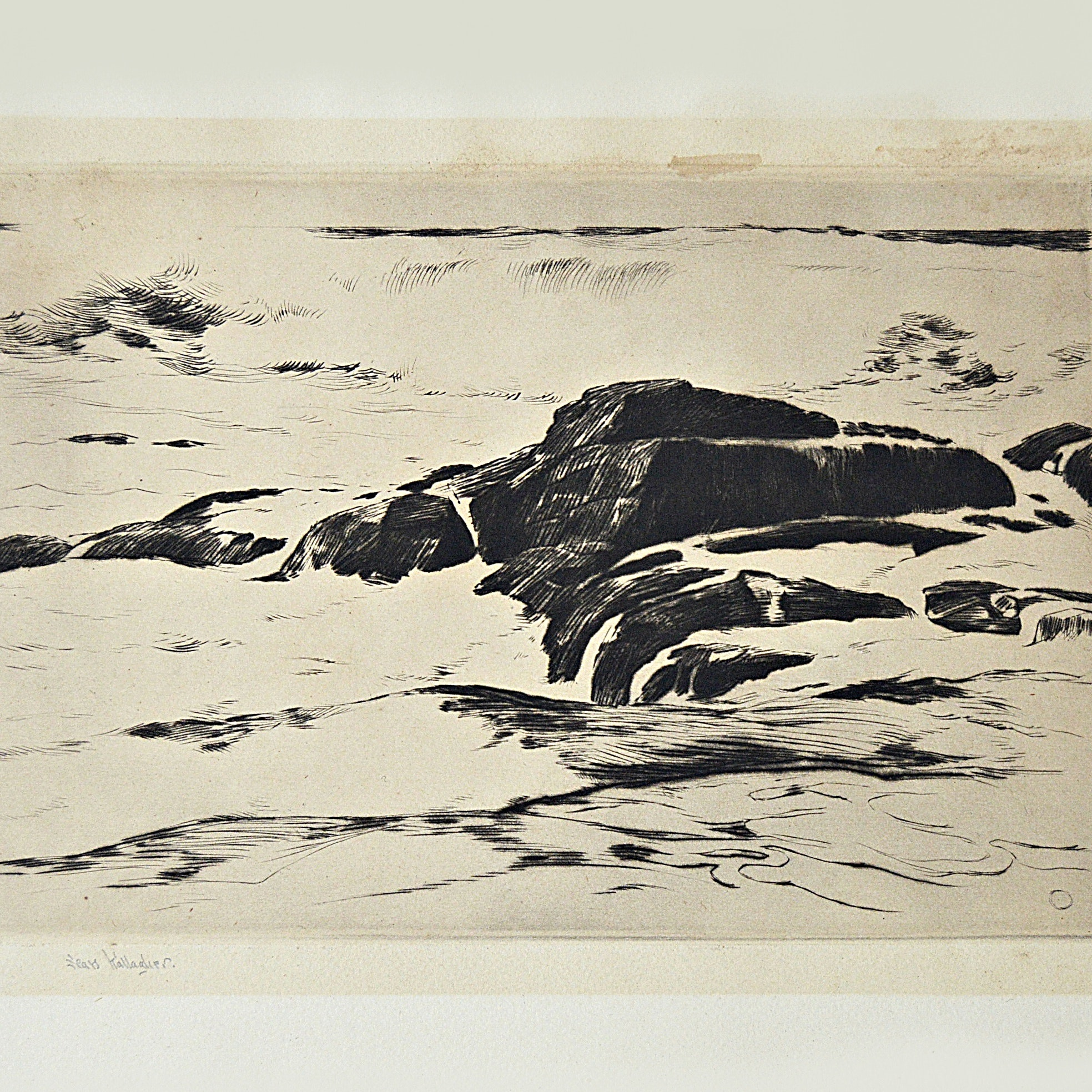 Sears Gallagher Signed Seascape Etching