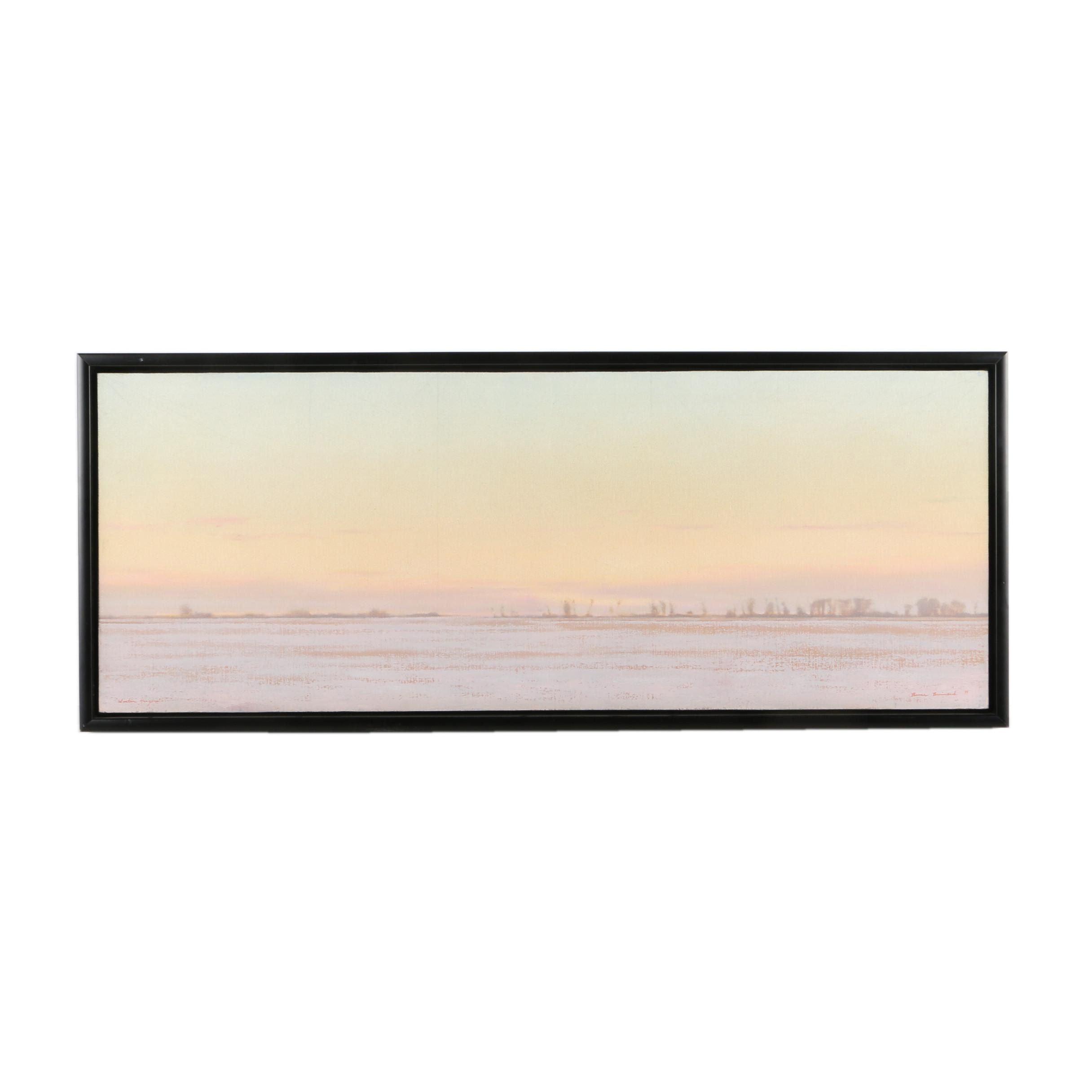 """Bruce Brainard Oil Painting on Canvas """"Winter Horizon"""""""