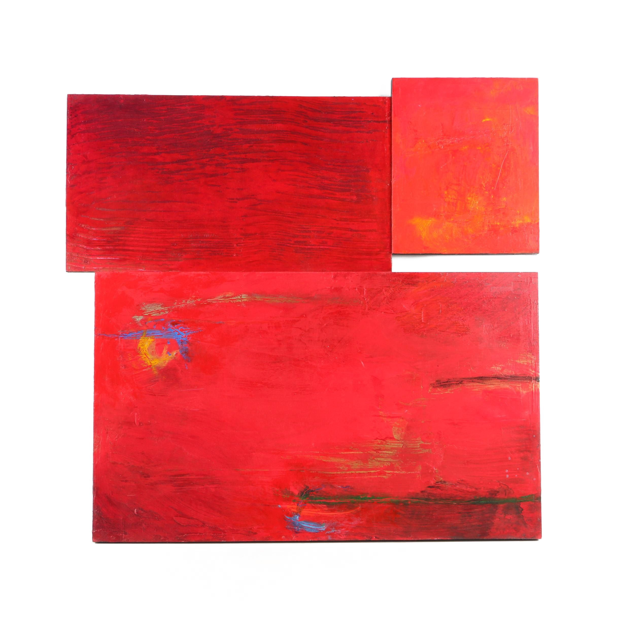 Abstract Oil Paintings on Masonite