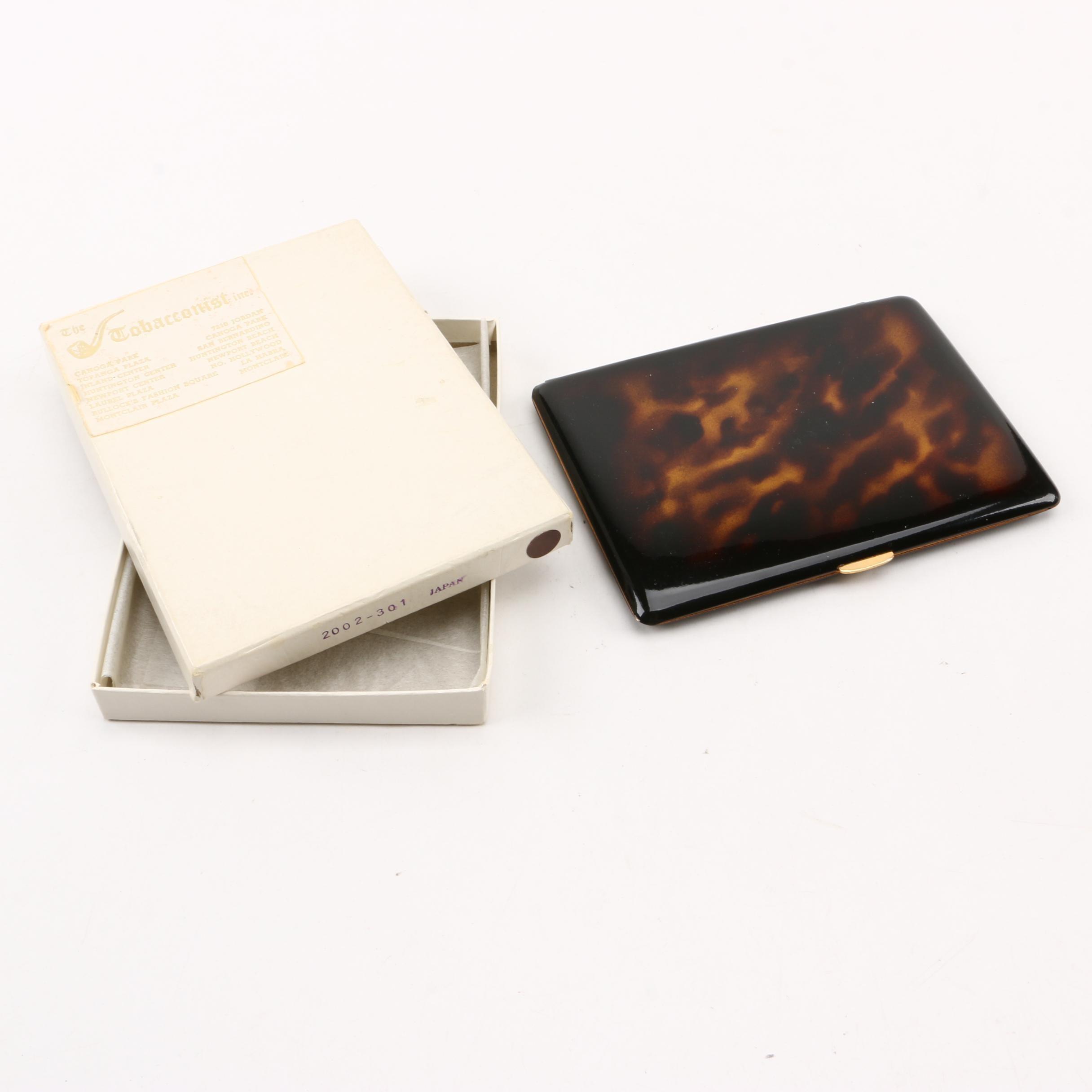 Comoy's of London Faux Tortoise Shell Cigarette Case