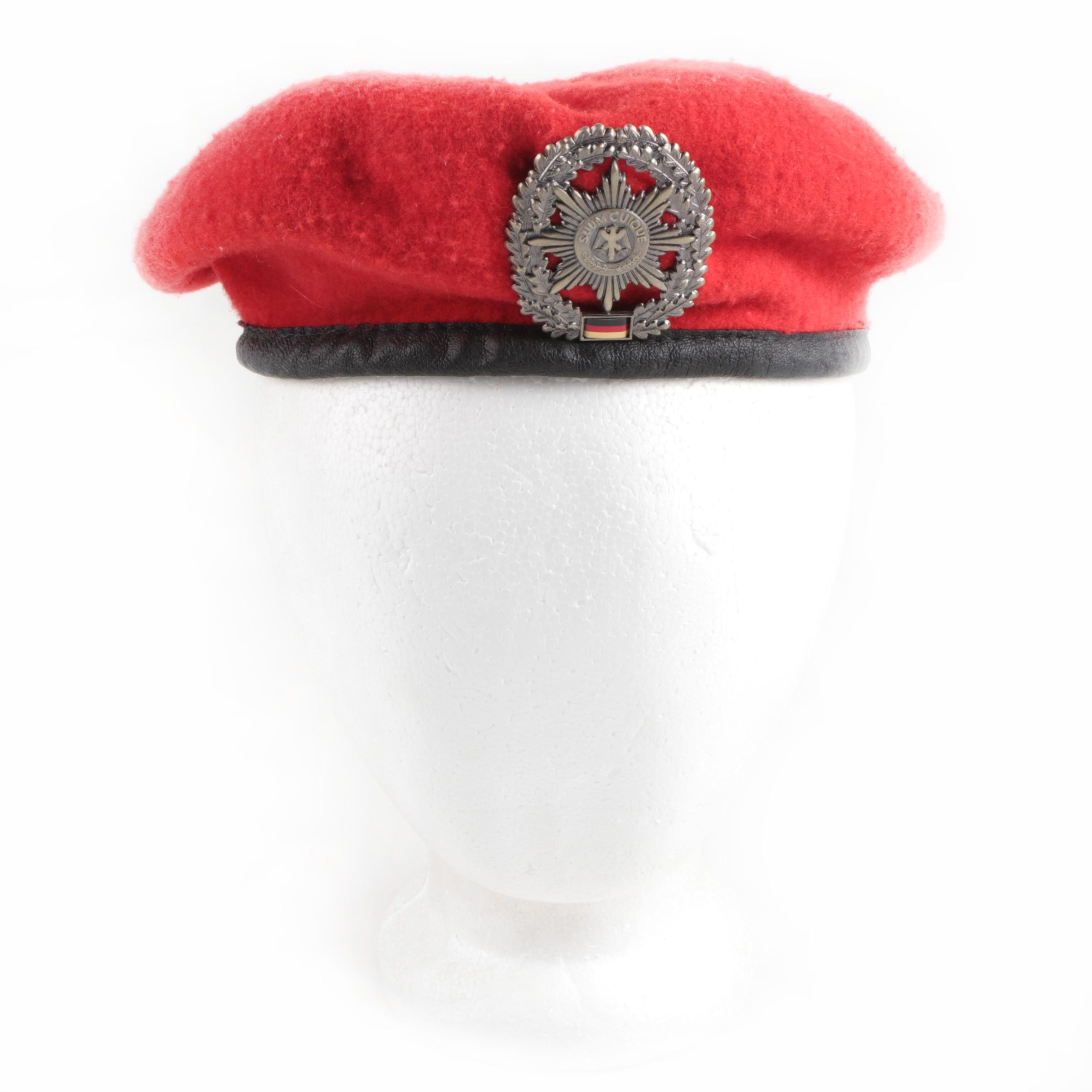 Red German Military Police Beret