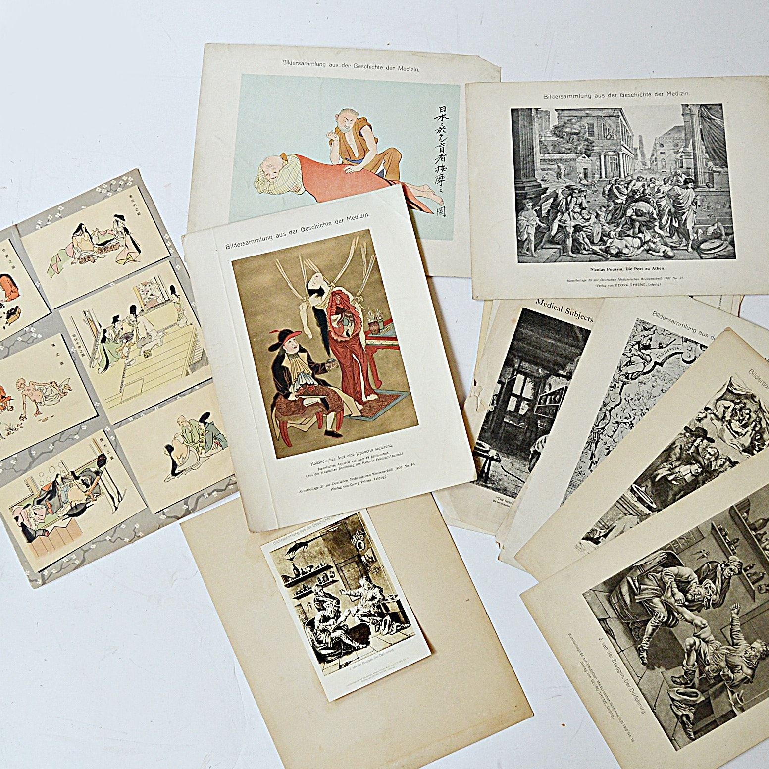 Vintage Medical Reproduction Illustrations and Medical Journals
