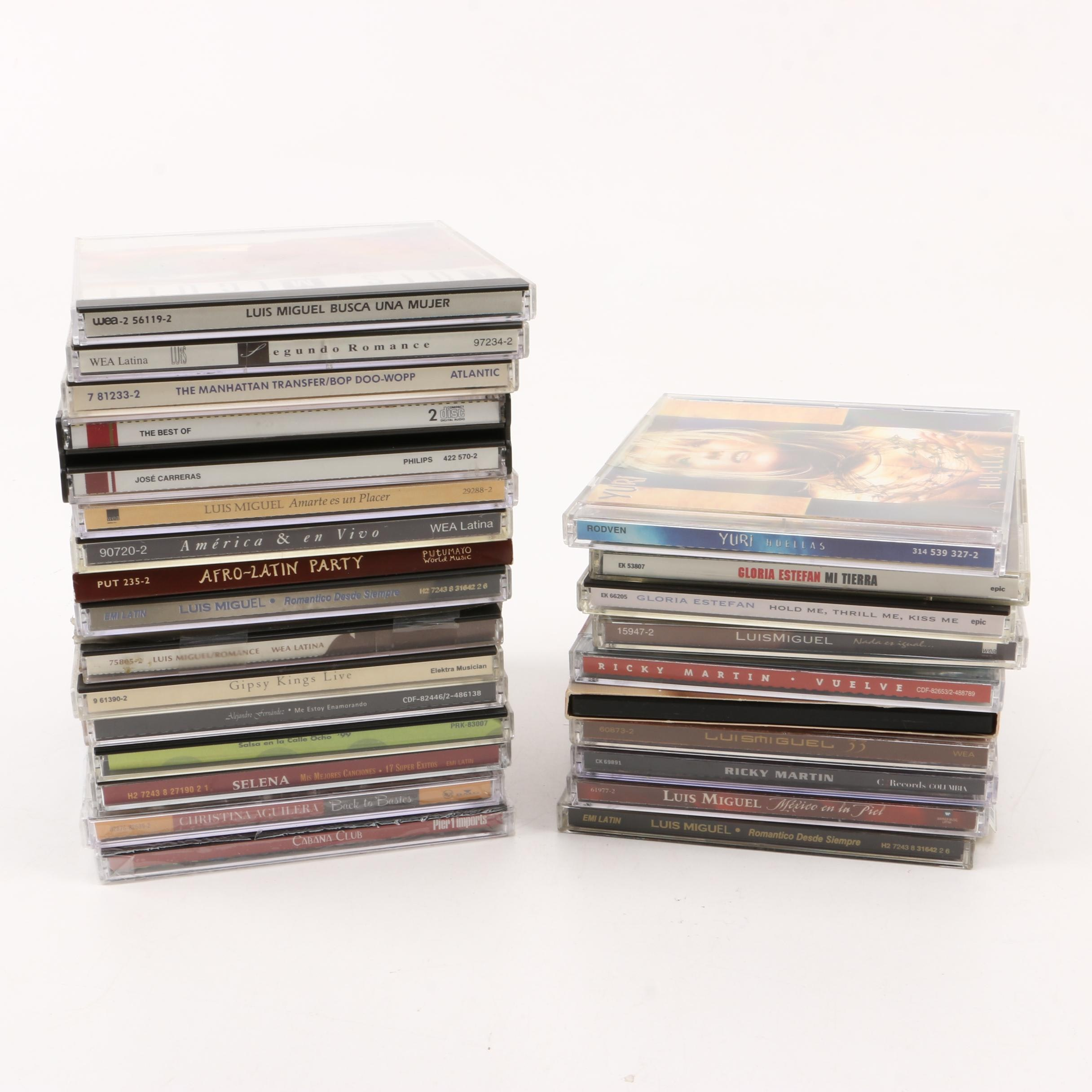 Gloria Estefan, Ricky Martin, Luis Miguel, and Other CDs