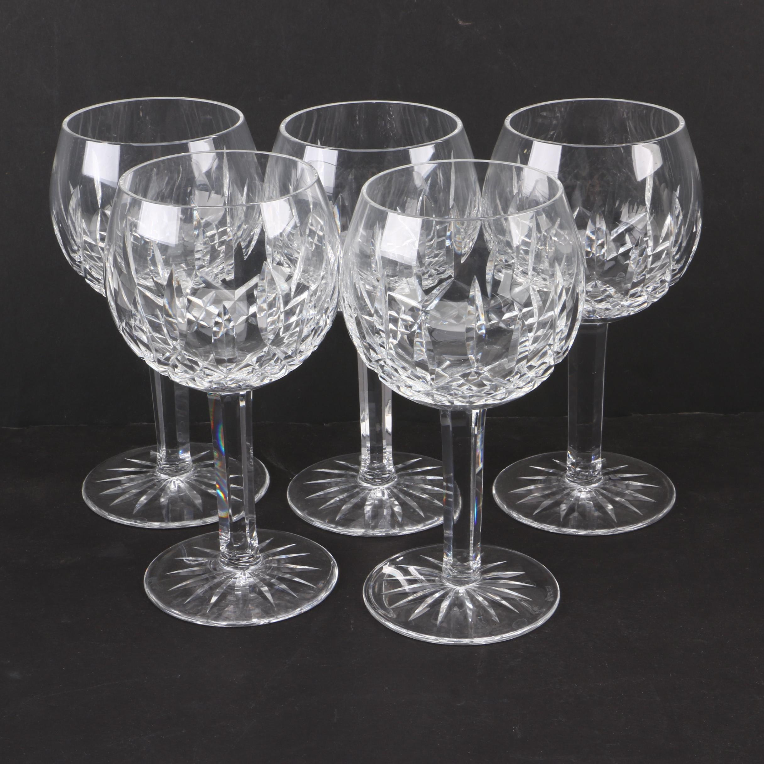 "Waterford Crystal ""Lismore"" Oversize Wine Glasses"