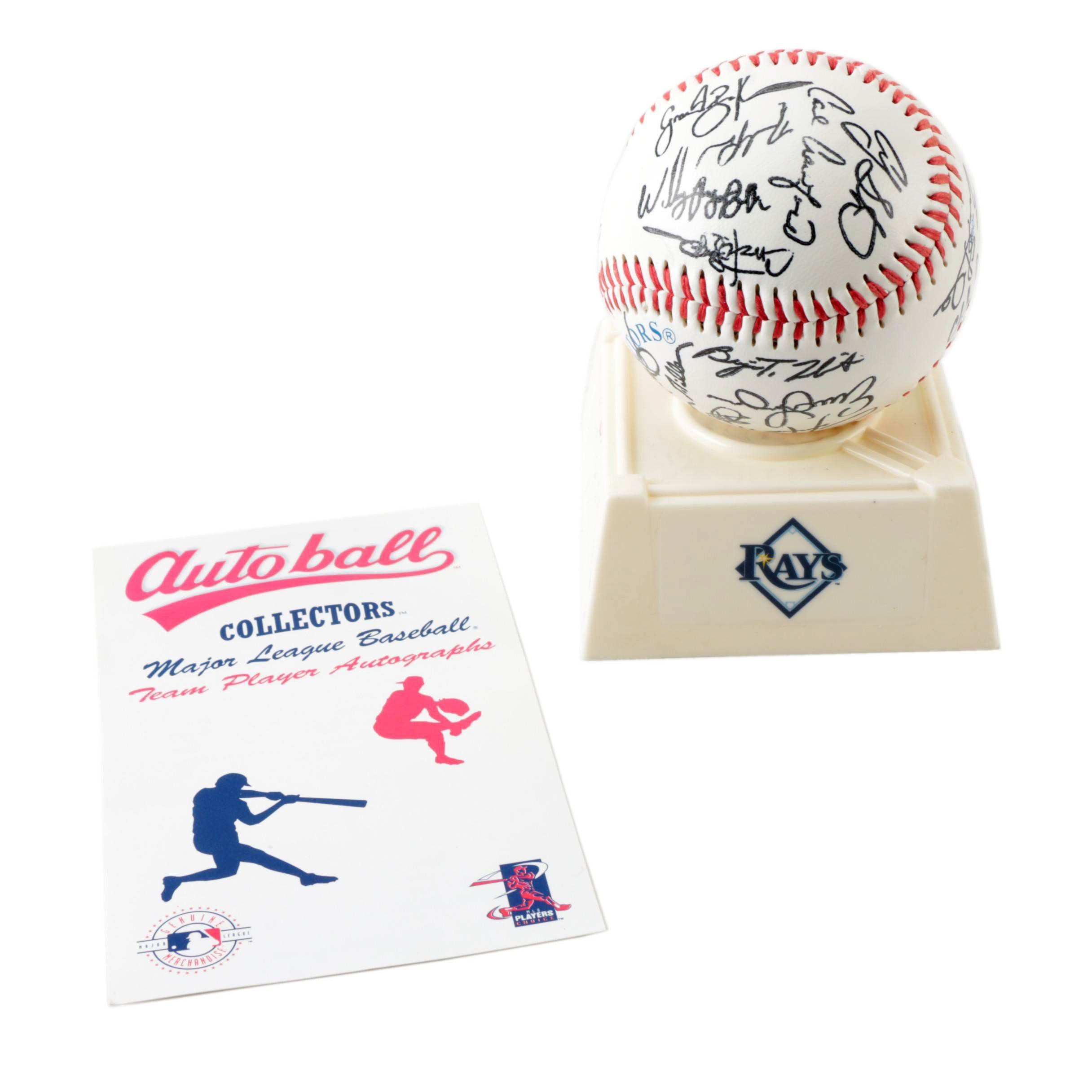 Tampa Bay Rays 2008 World Series Collectors Team Stamped Baseball