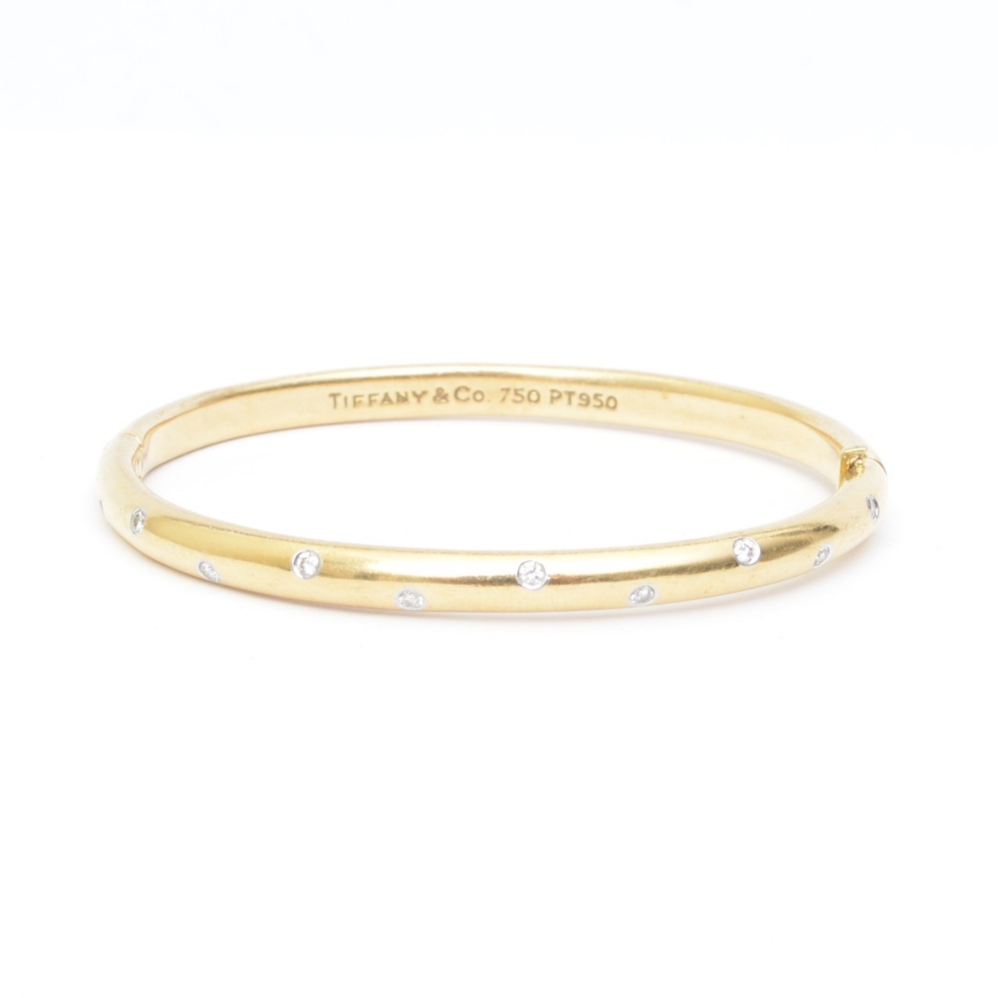 Tiffany & Co. 18K Yellow Gold Platinum and Diamond Bracelet
