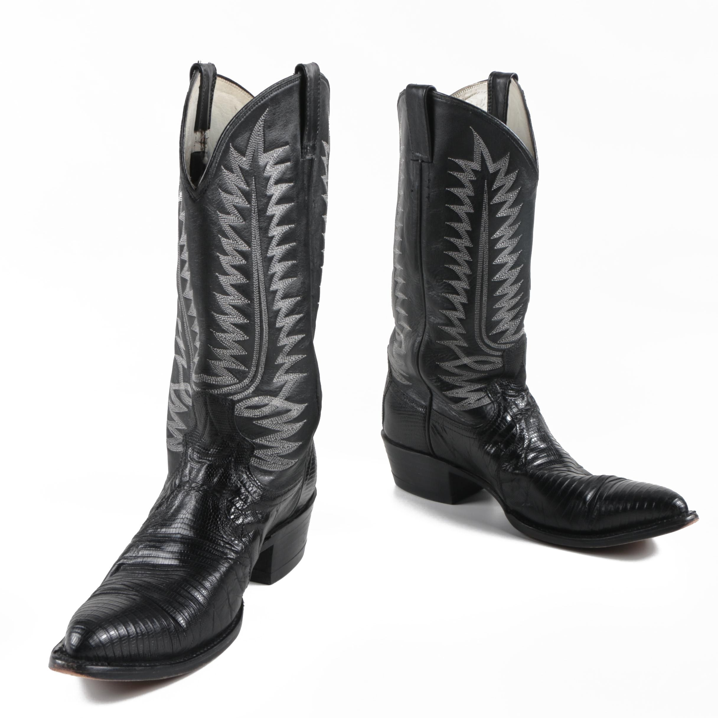 Men's Amazonas Black Lizard Cowboy Boots