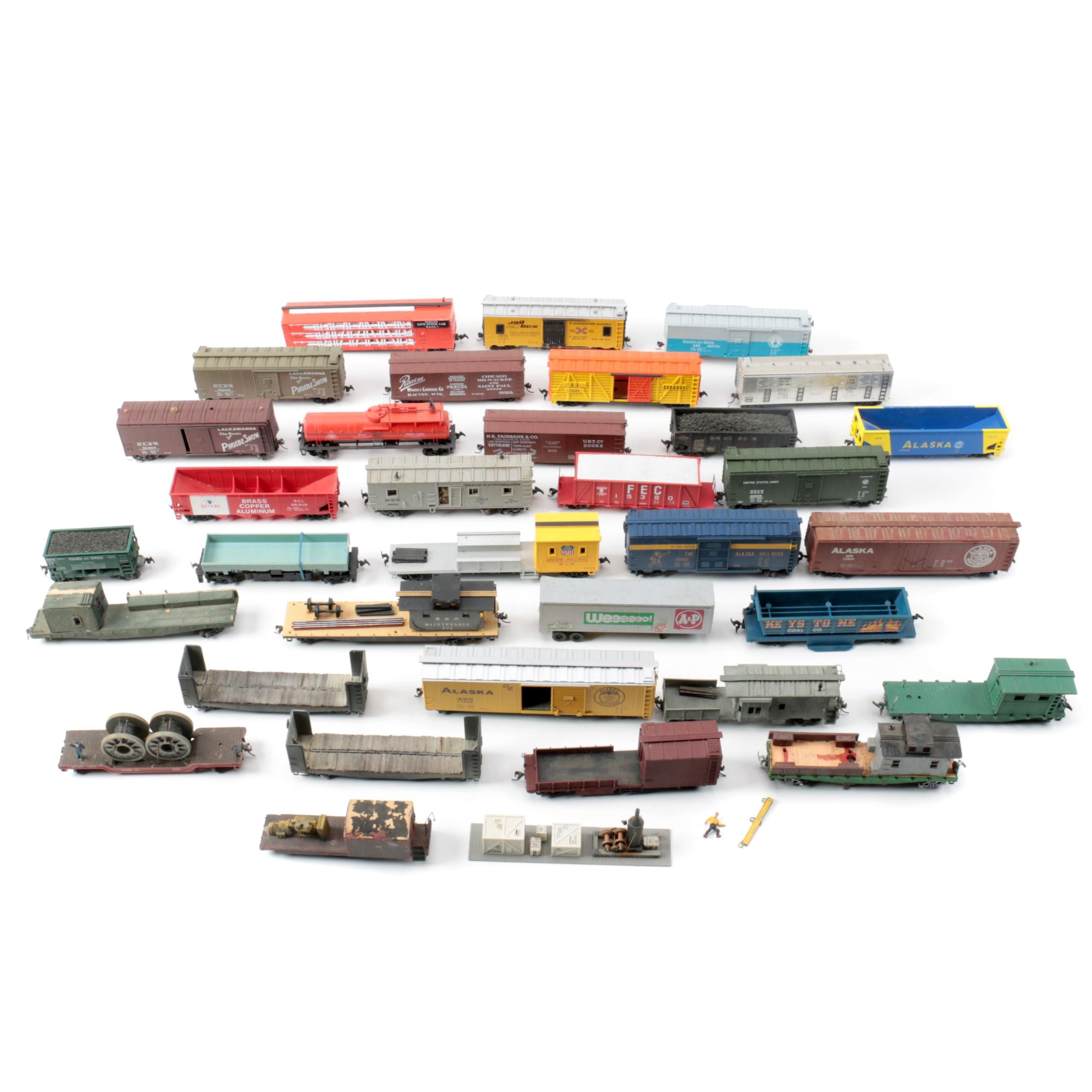 HO Scale Train Cars Including Alaska Railroad