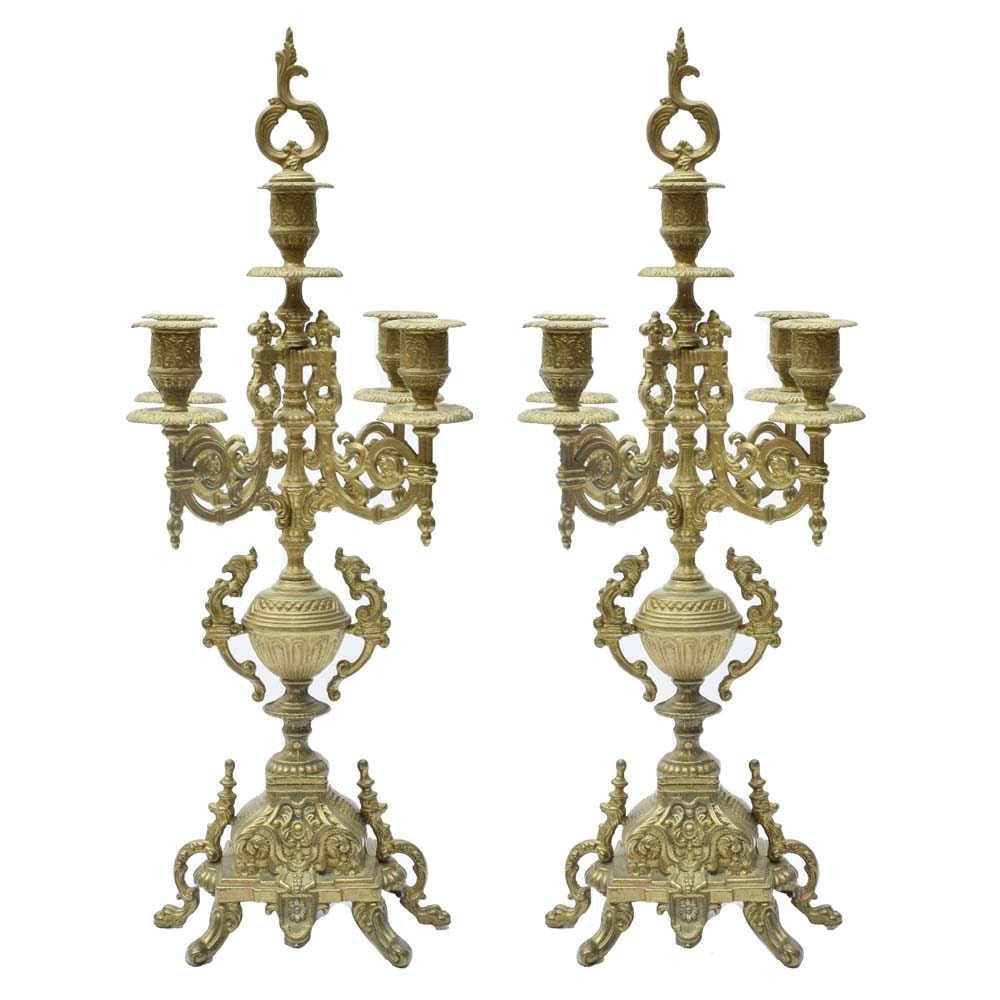 Italian Brass Candelabras