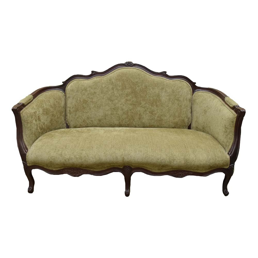 Vintage French Provincial Mahogany Settee