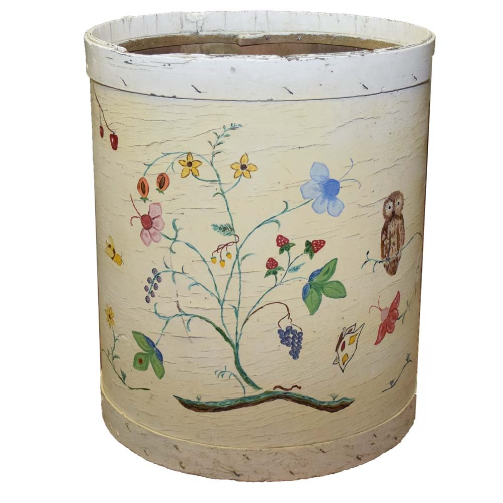 Large Hand-painted Cheese Barrel