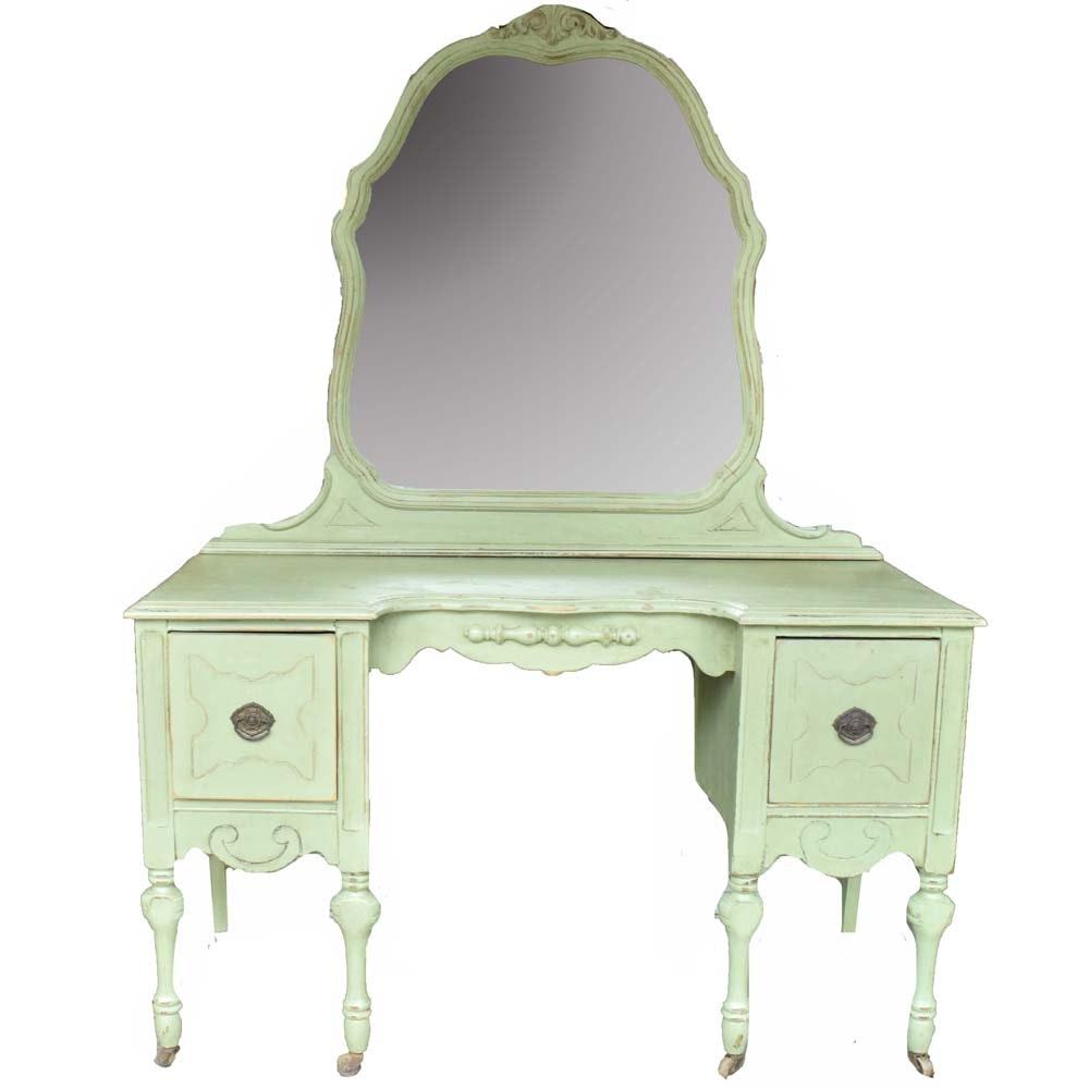 Vintage Painted Victorian Vanity